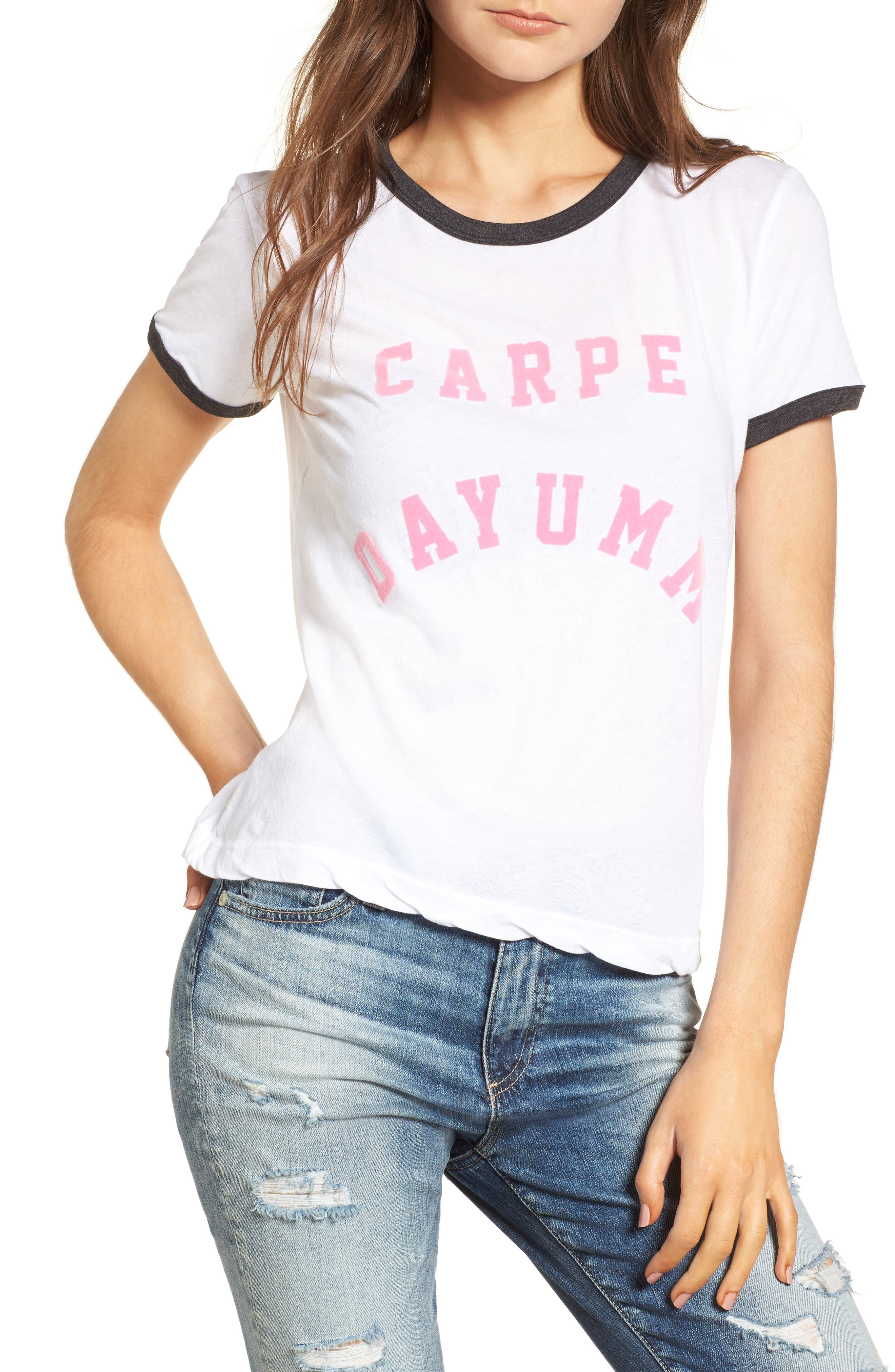 Alternate Image 1 Selected - Wildfox Carpe Dayumm Johnny Ringer Tee