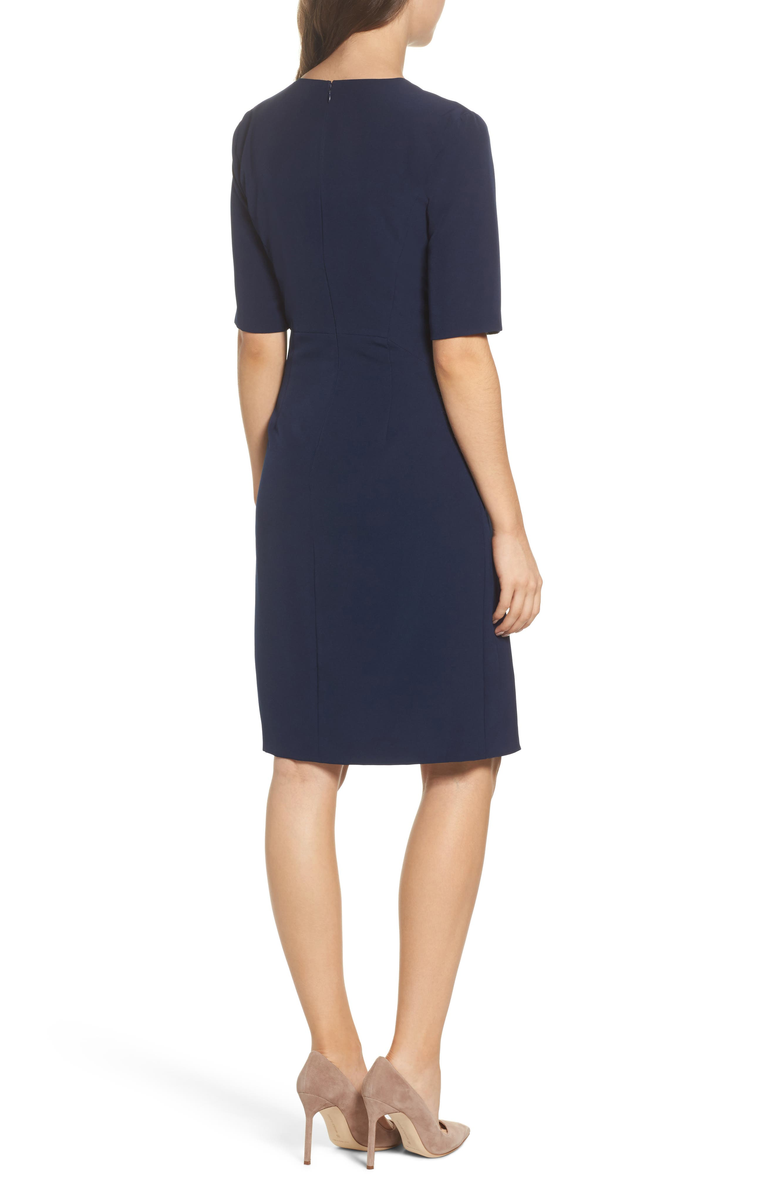 Alternate Image 2  - Maggy London Solid Dream Crepe Sheath Dress