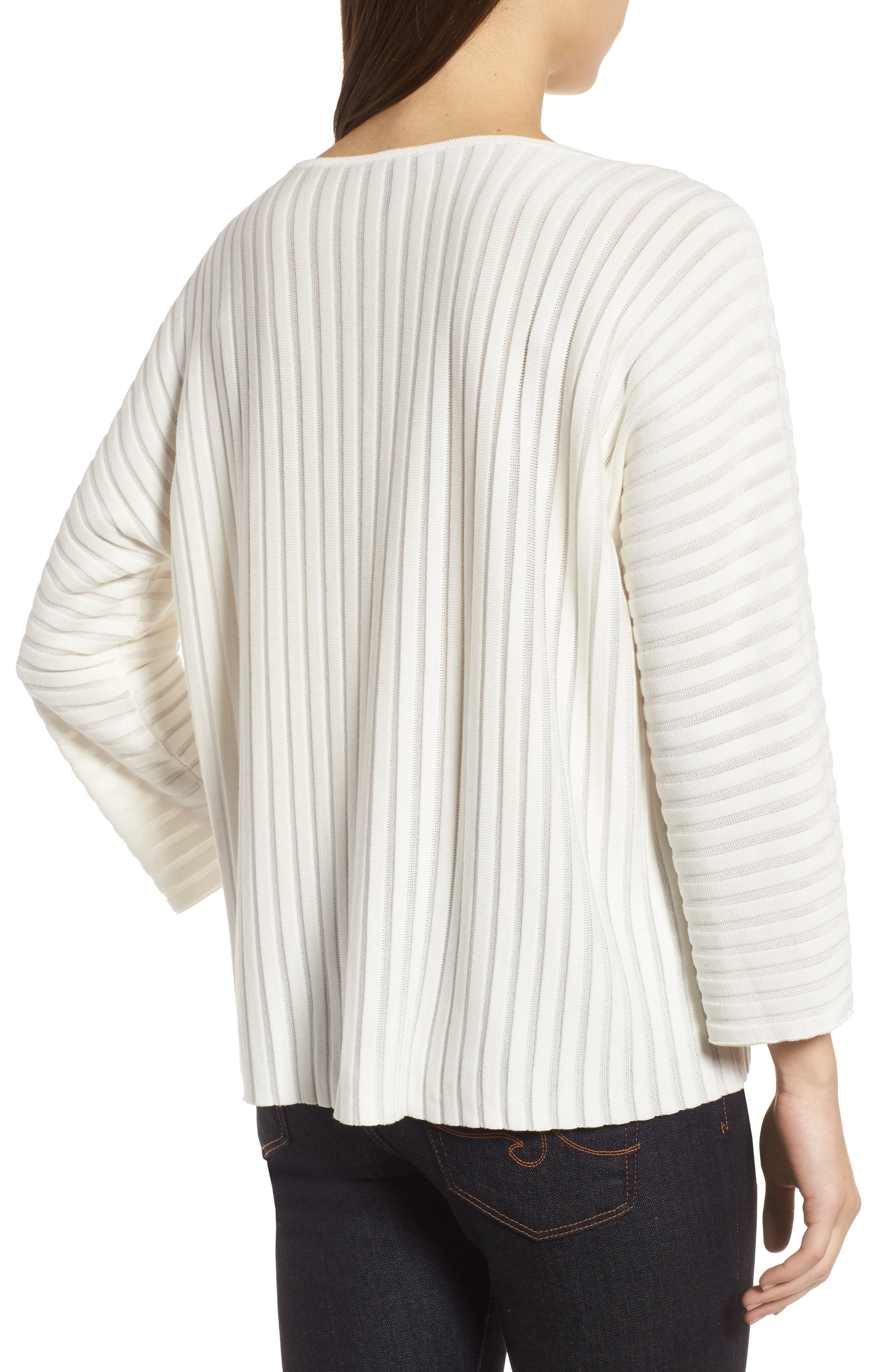 Ribbed Bateau Neck Sweater,                             Alternate thumbnail 2, color,                             Soft White