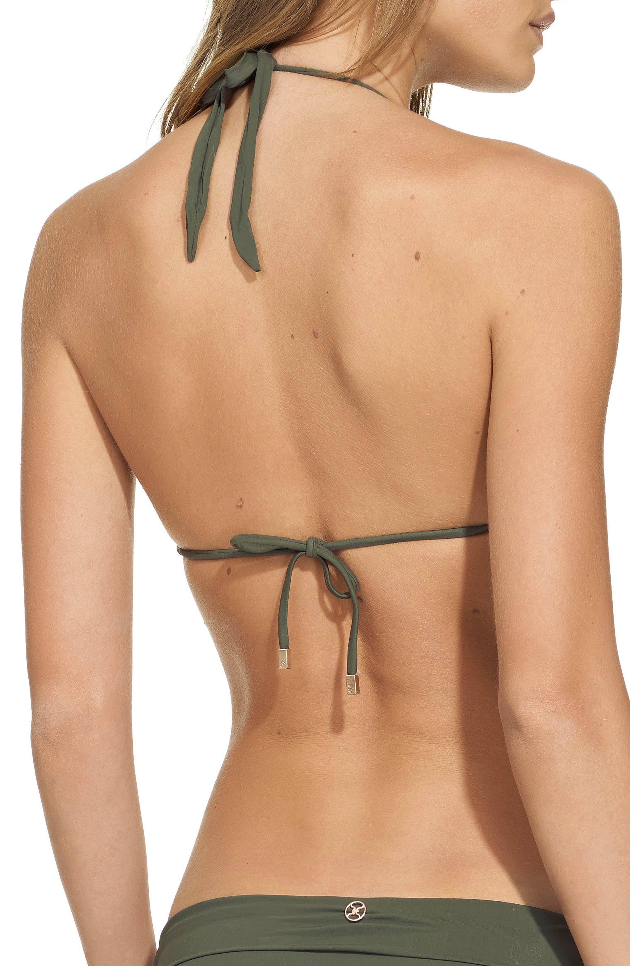 Bia Bikini Top,                             Alternate thumbnail 2, color,                             Military