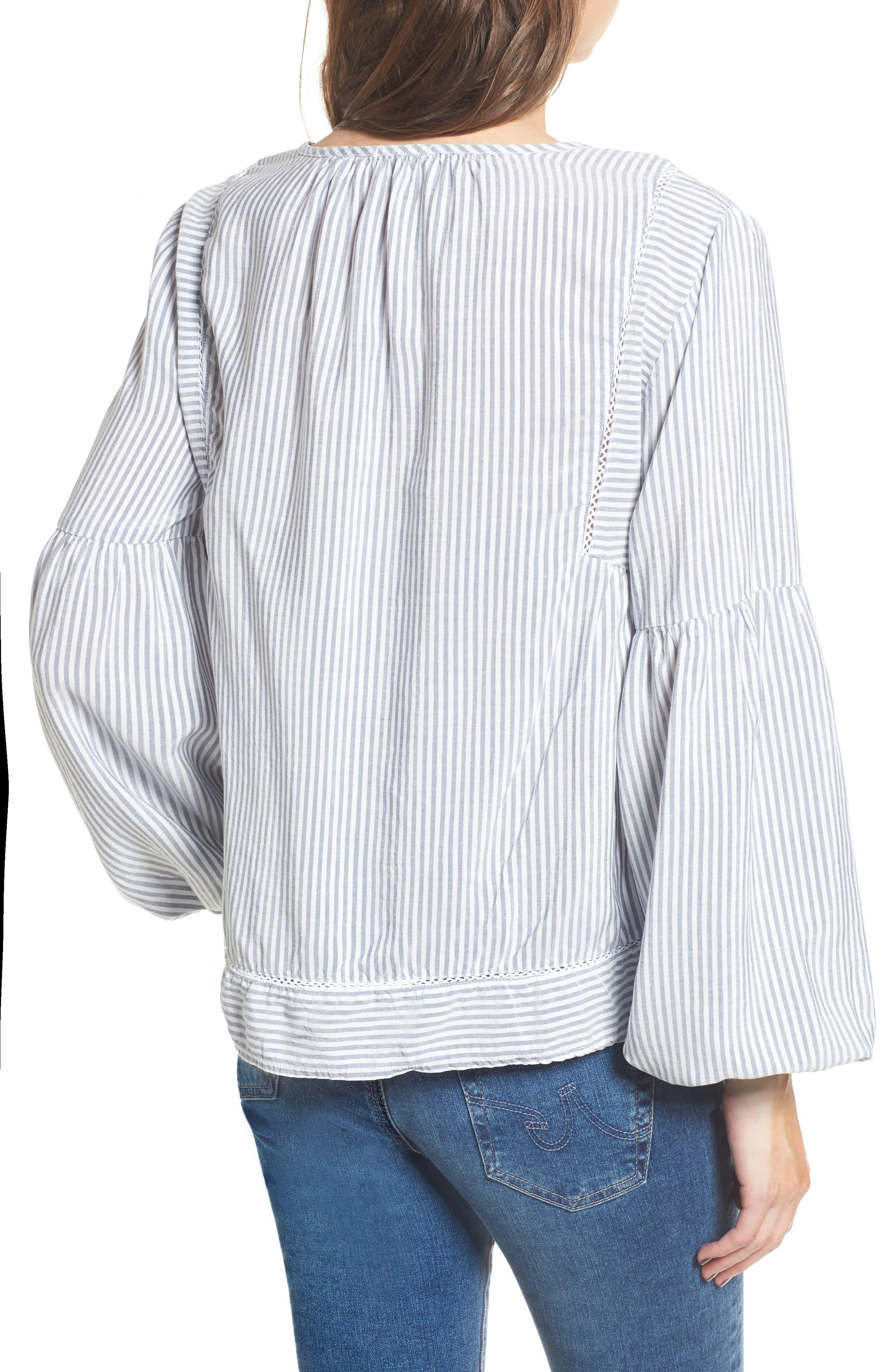 Tassel Shirt,                             Alternate thumbnail 2, color,                             Med Wash