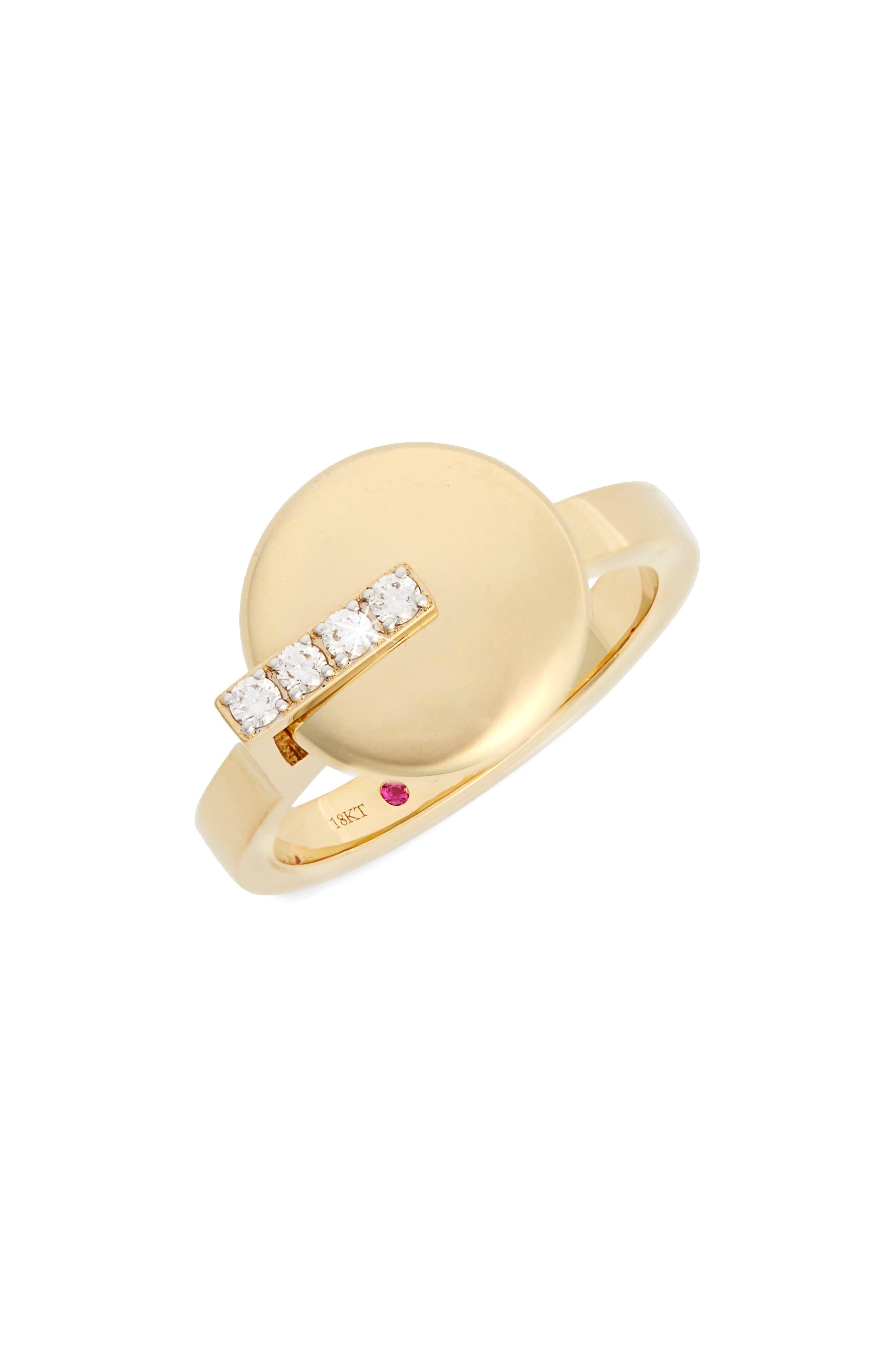 Diamond Ring,                             Main thumbnail 1, color,                             Yellow Gold