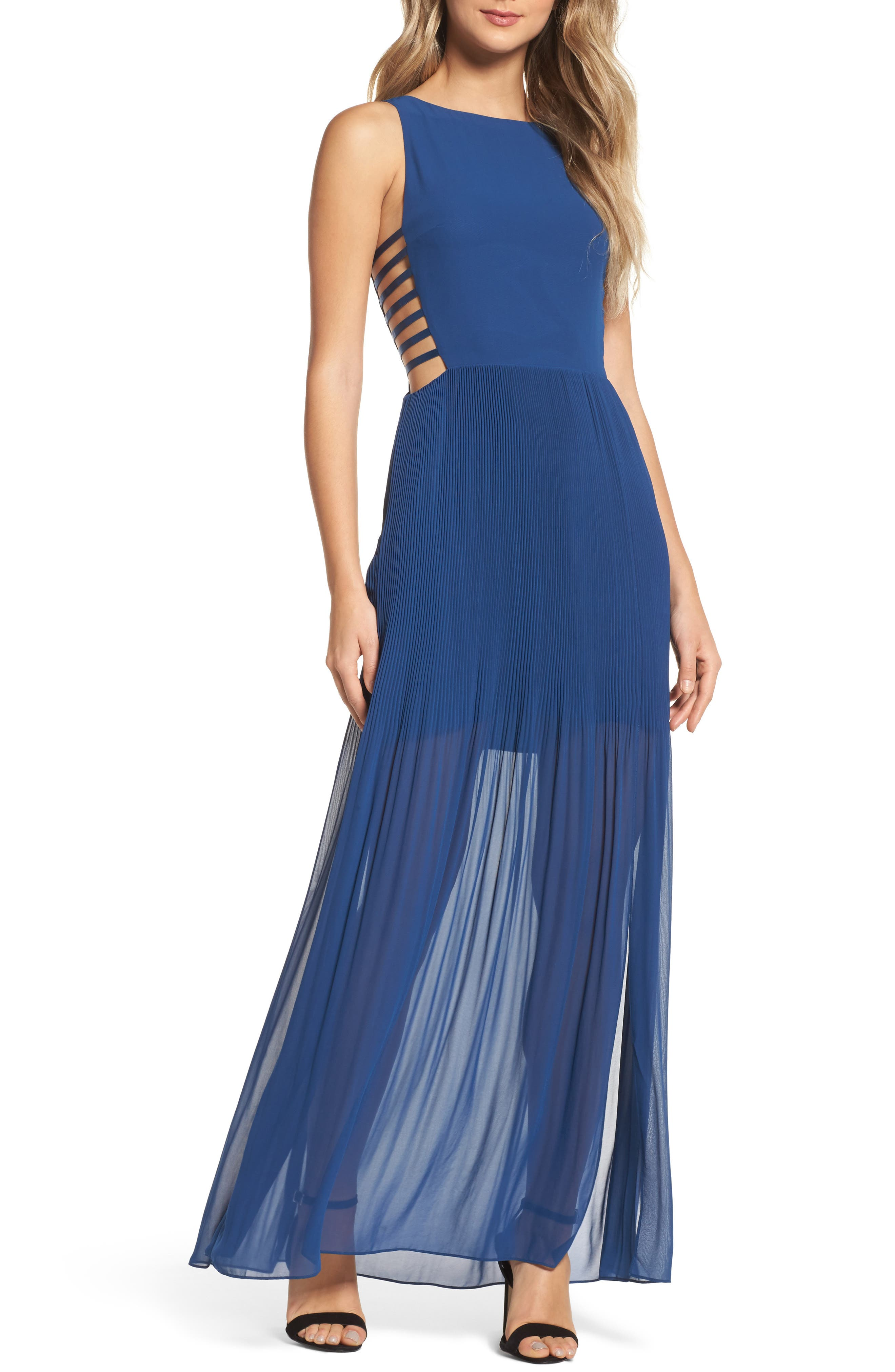 Sunset Blvd Maxi Dress,                         Main,                         color, French Blue