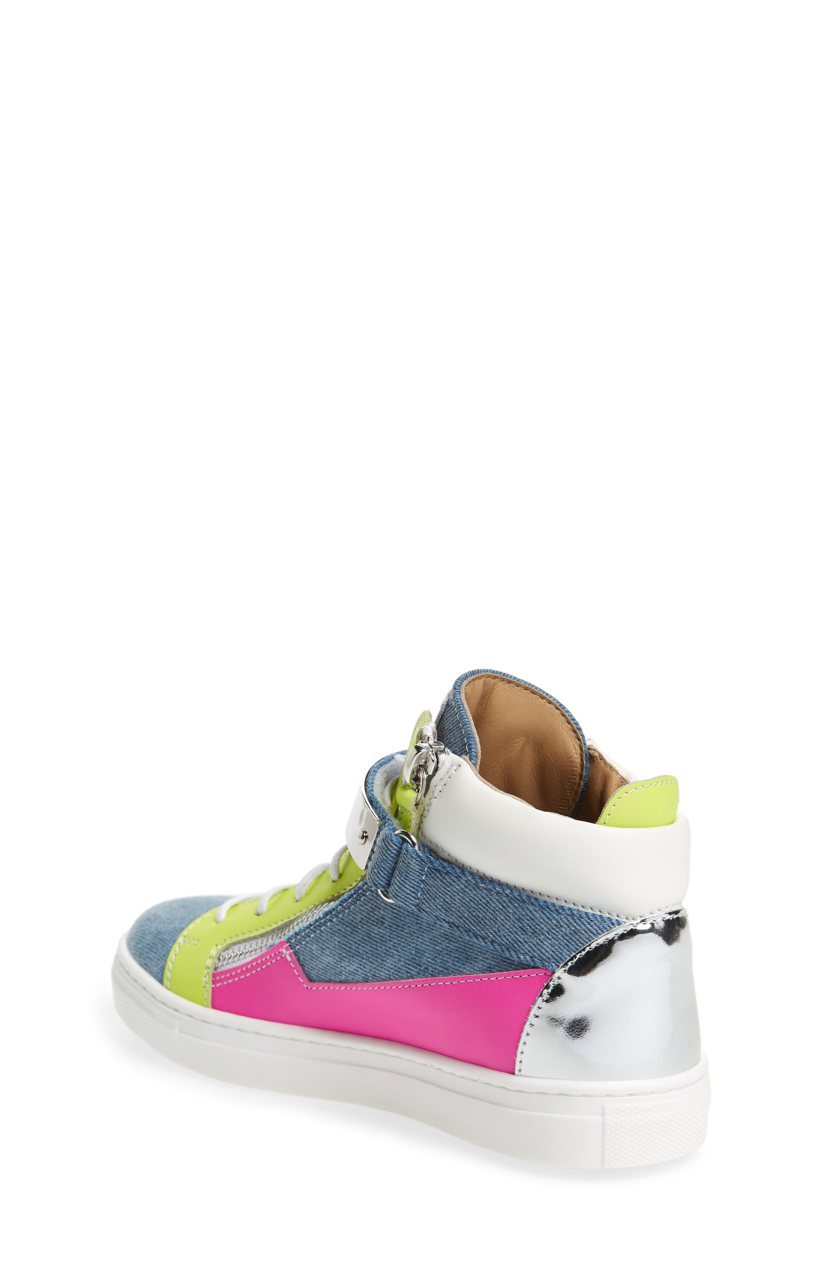 London High Top Sneaker,                             Alternate thumbnail 2, color,                             Multi