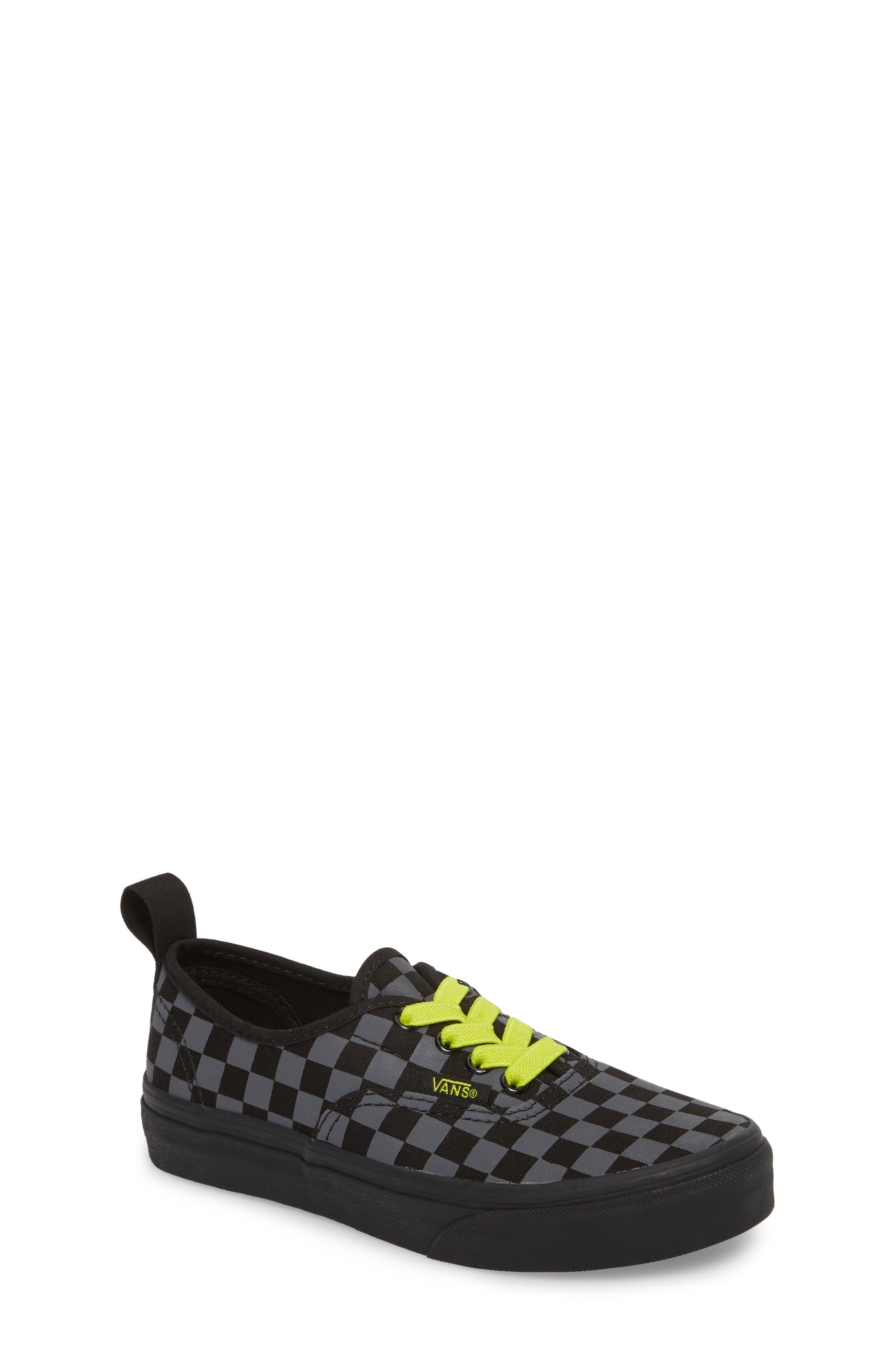 Reflective Checkerboard Authentic Sneaker,                             Main thumbnail 1, color,                             Asphalt/ Reflective