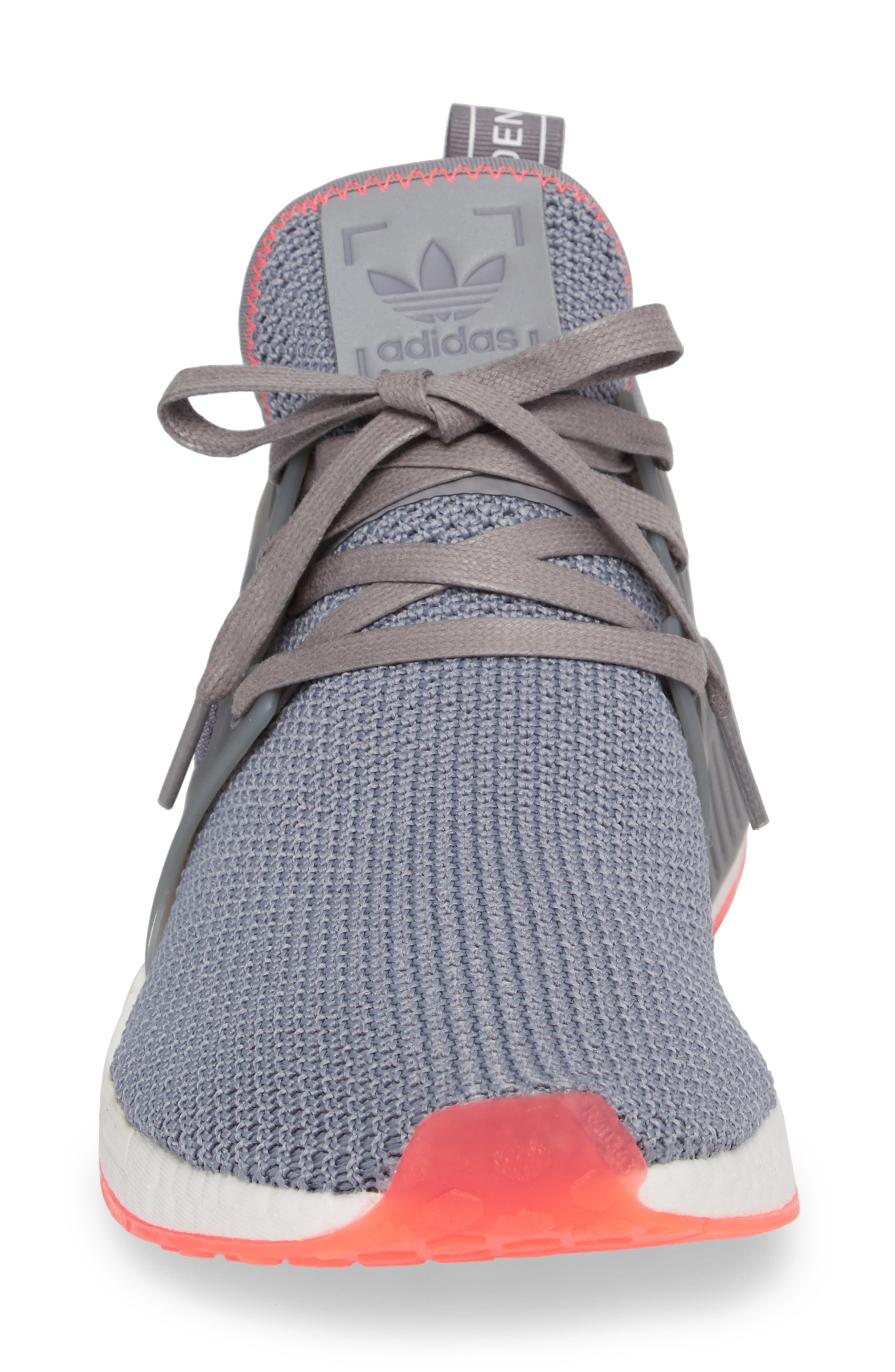 NMD_XR1 Sneaker,                             Alternate thumbnail 4, color,                             Grey Heather/ Red