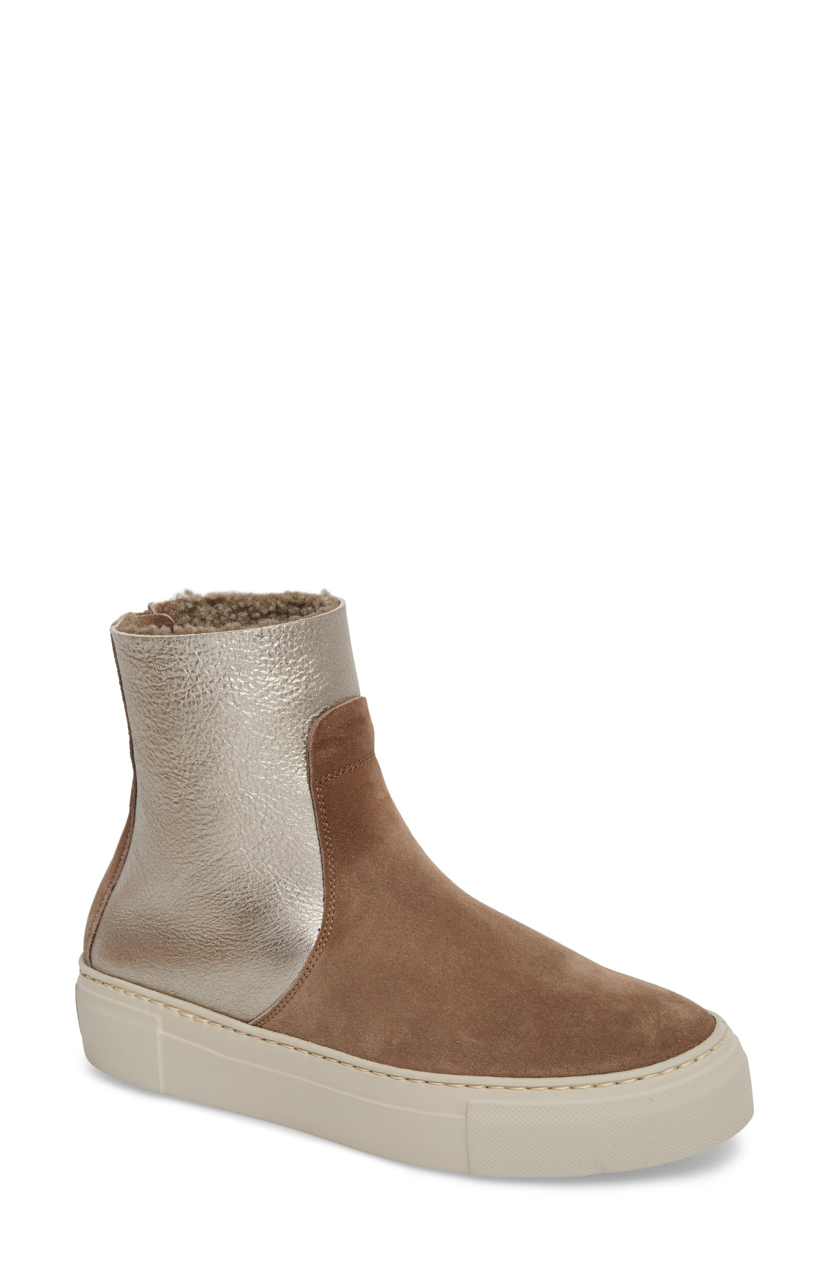 Main Image - AGL Sport Genuine Shearling Lined Bootie (Women)