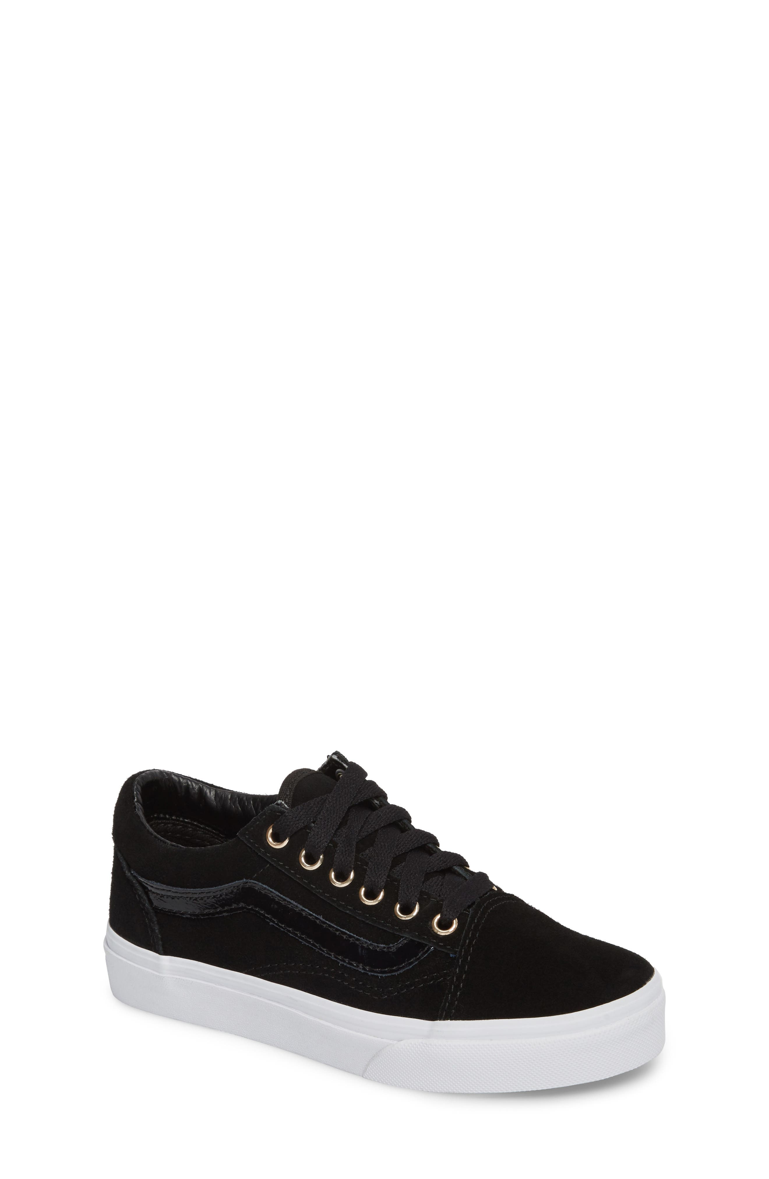 Old Skool Sneaker,                             Main thumbnail 1, color,                             Black/ Gold