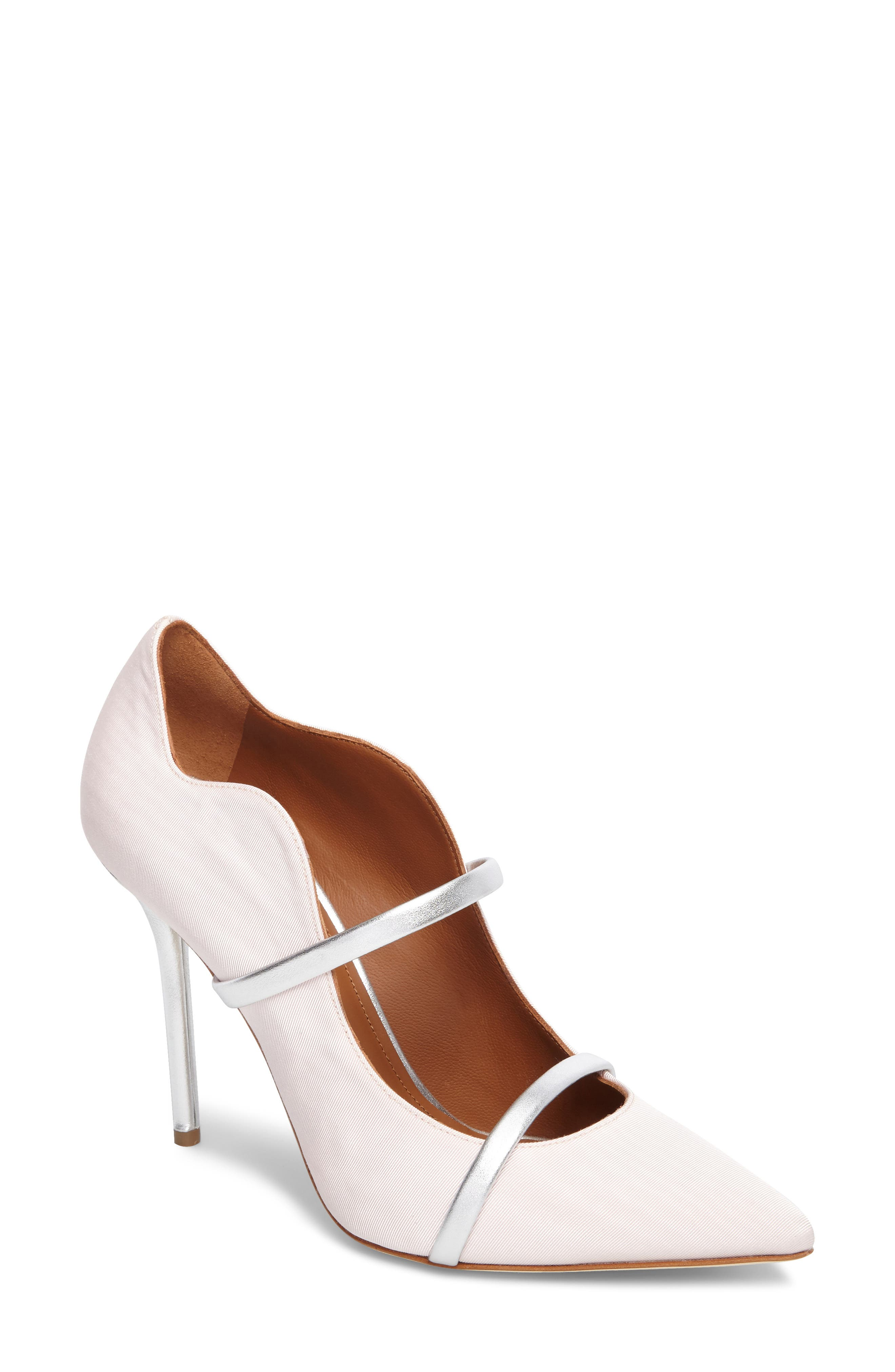 Maureen Double Band Pump,                         Main,                         color, Rose/ Silver