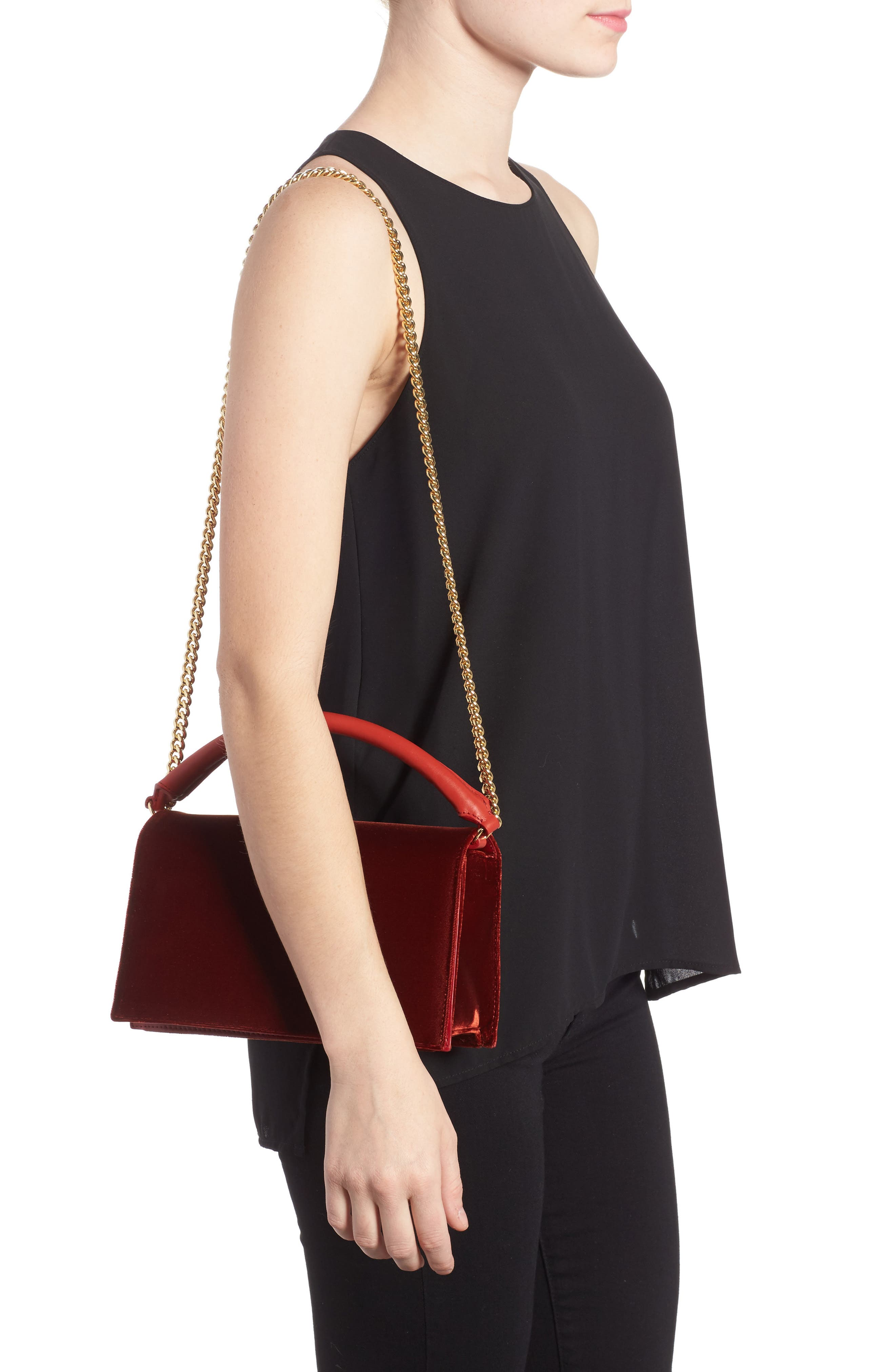 Alternate Image 2  - Diane von Furstenberg Soirée Velvet Top Handle Bag