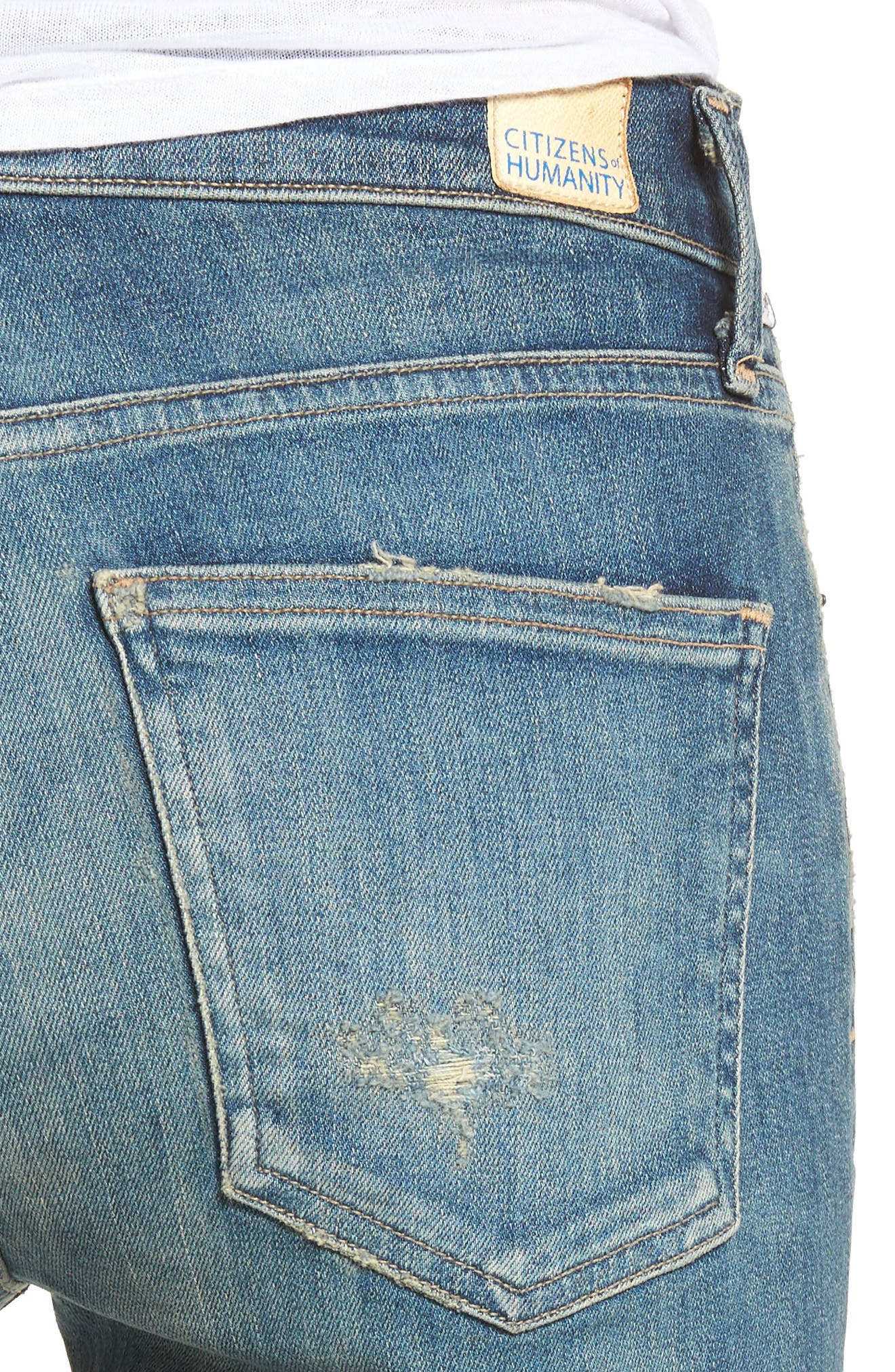 Alternate Image 4  - Citizens of Humanity Rocket High Waist Skinny Jeans (Rocker)