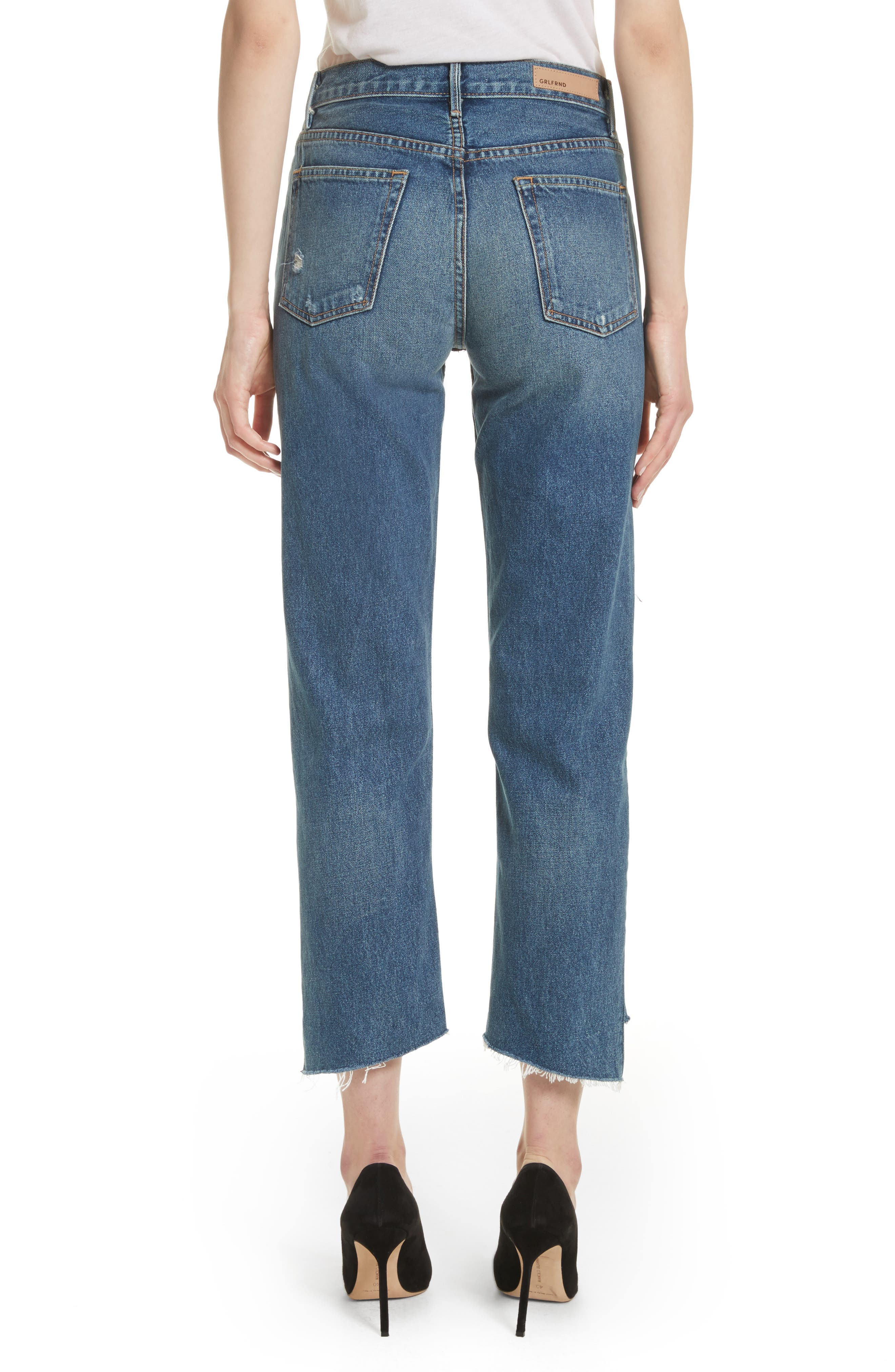 Alternate Image 2  - GRLFRND Helena Rigid High Waist Straight Jeans (Close To You)