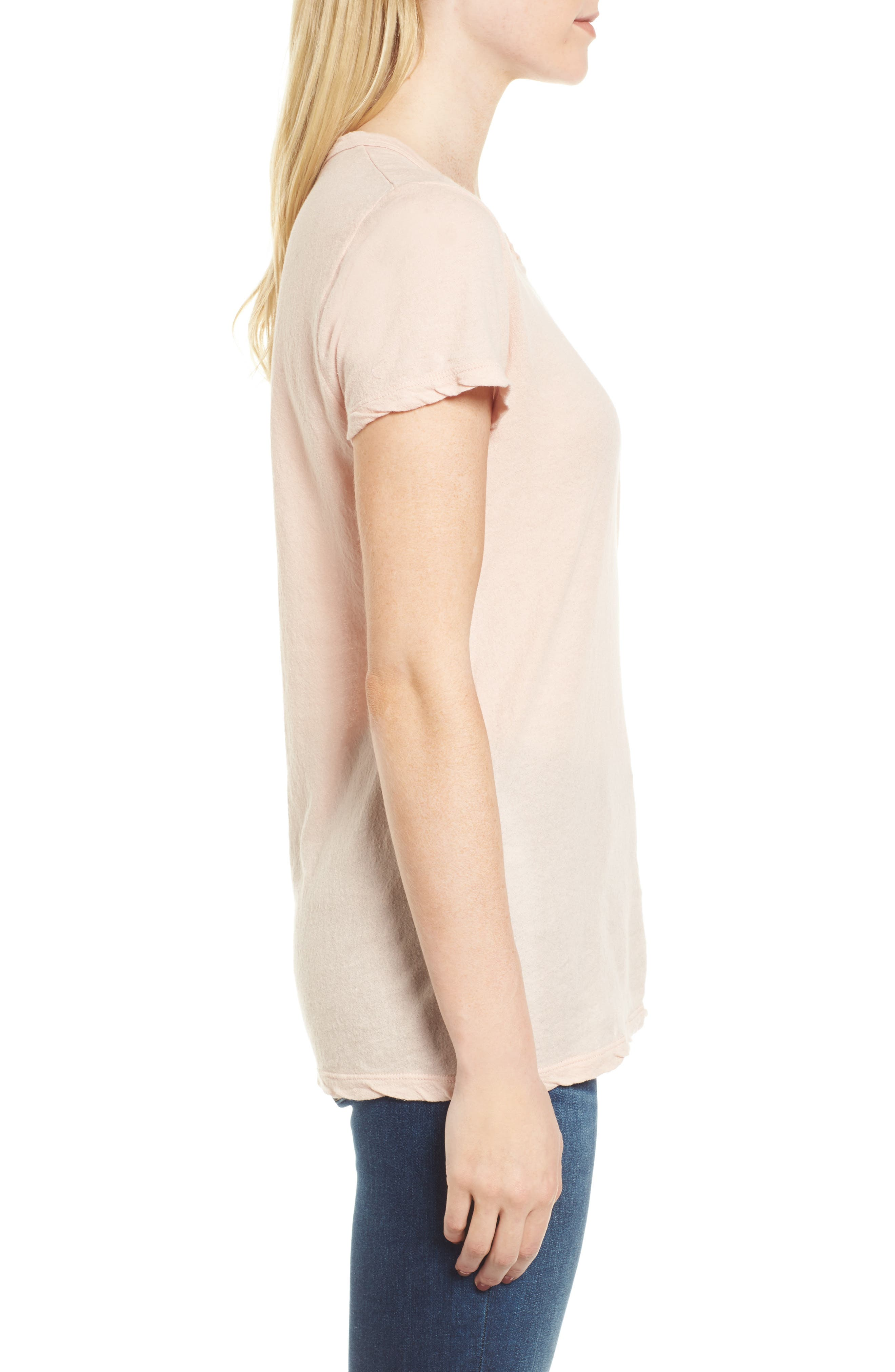 Crepe Jersey Tee,                             Alternate thumbnail 3, color,                             Luster
