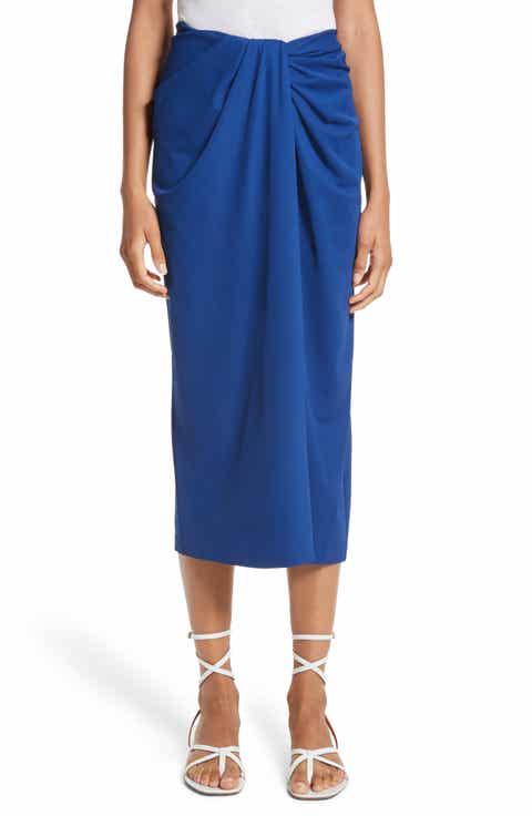 Rosetta Getty Jersey Twist Front Midi Skirt Best Reviews