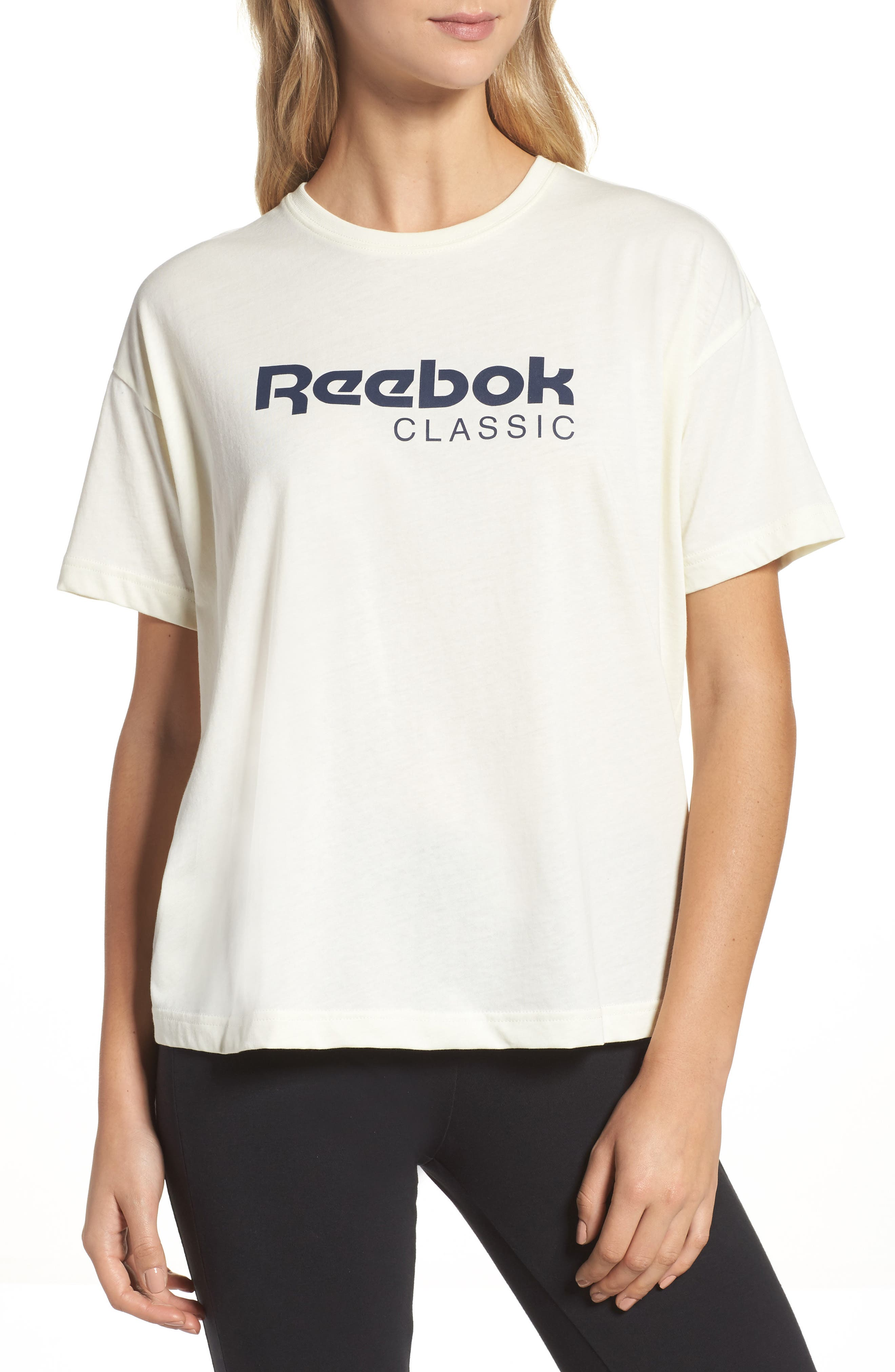 Elevated Tee,                         Main,                         color, Classic White