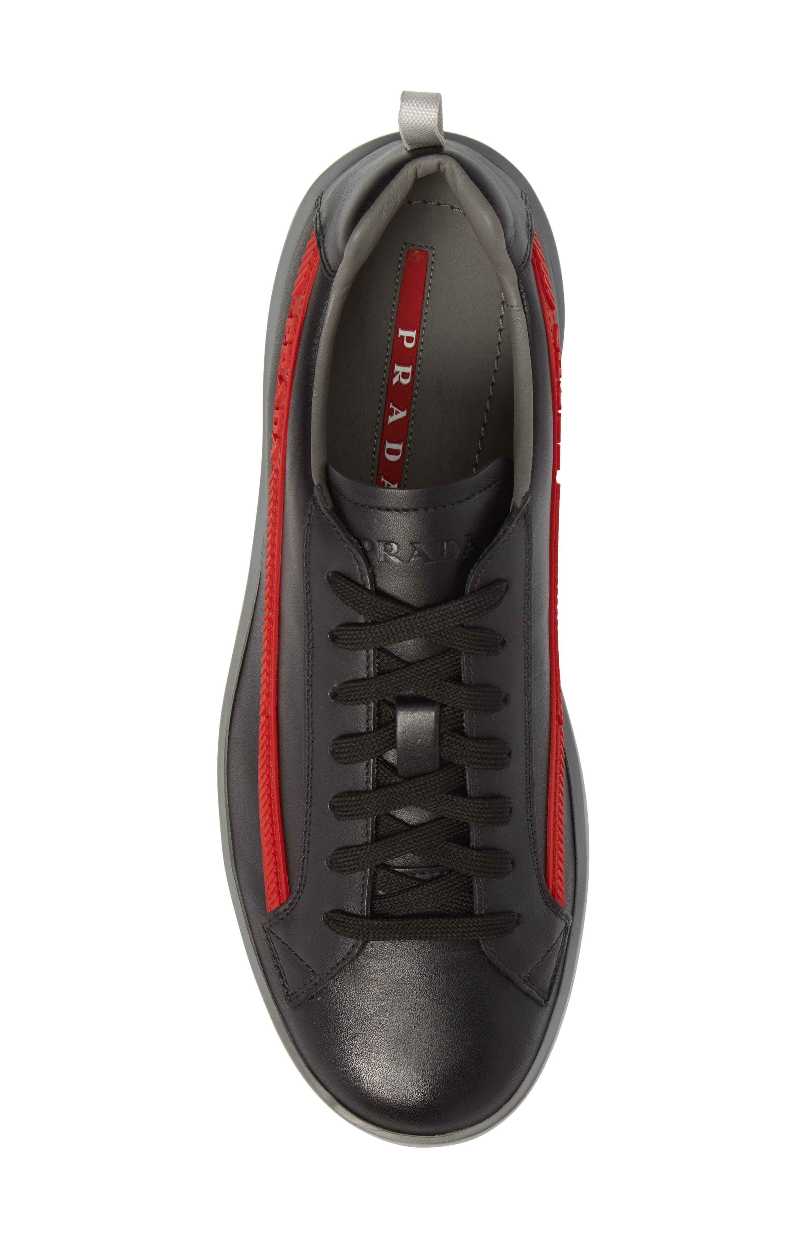 Linea Rossa Sneaker,                             Alternate thumbnail 5, color,                             Nero Bianco