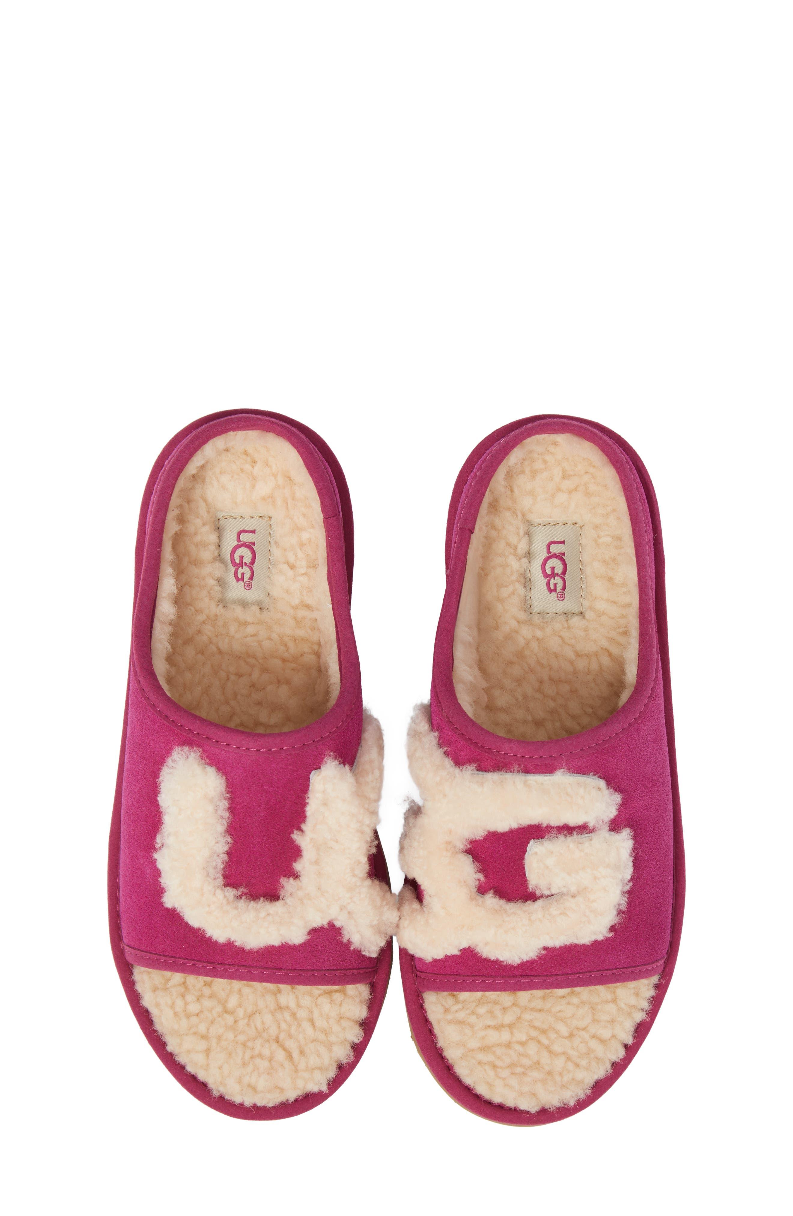 Logo Slide Sandal,                             Alternate thumbnail 5, color,                             Magenta Rose