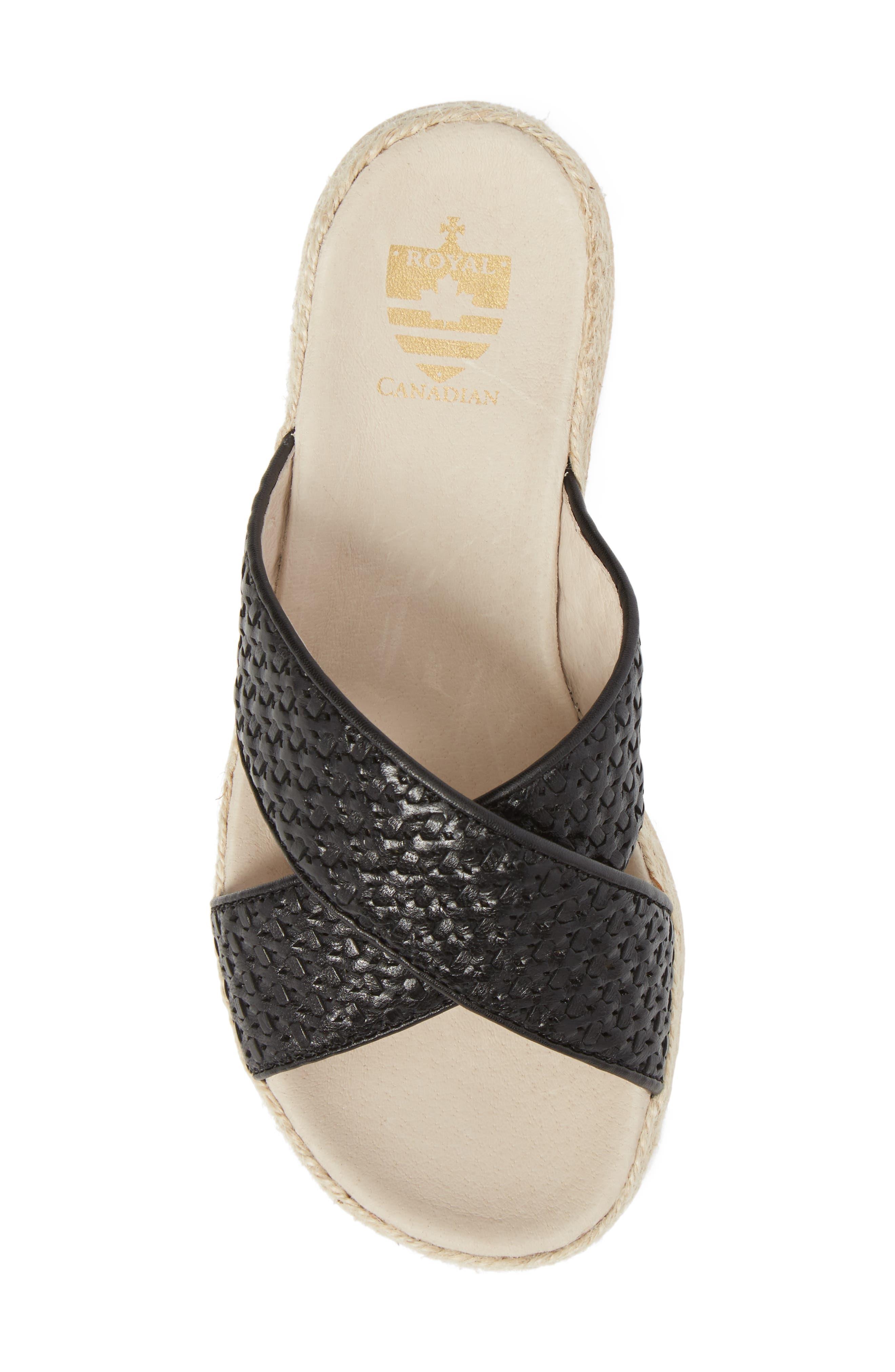 Glencairn Sandal,                             Alternate thumbnail 5, color,                             Black Leather