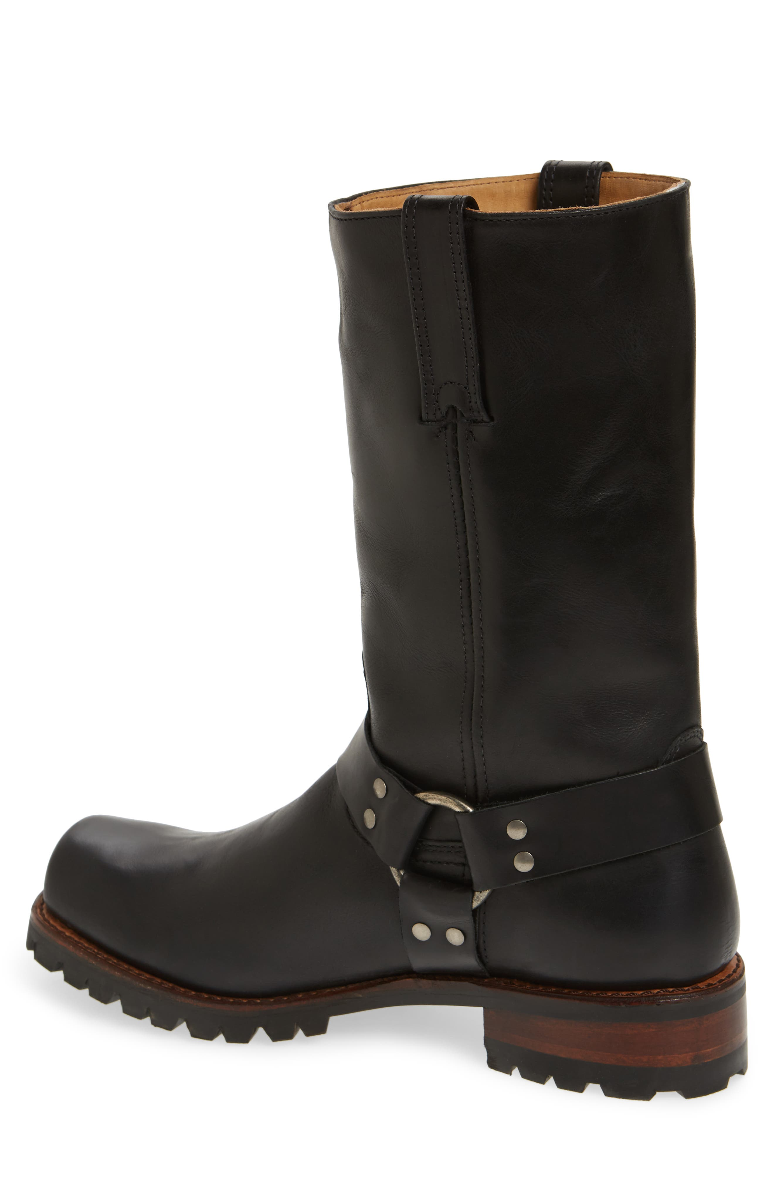 Addison Waterproof Harness Boot,                             Alternate thumbnail 2, color,                             Black Leather