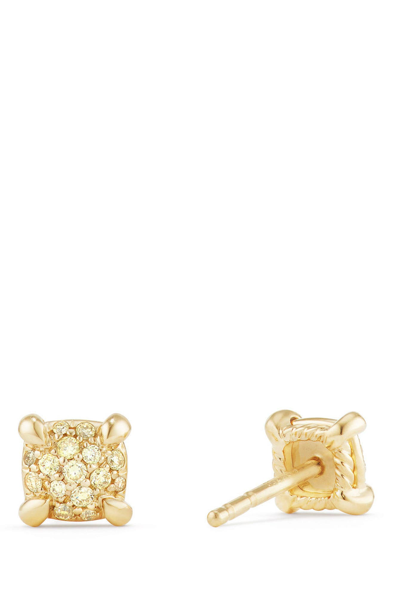 Châtelaine Stud Earrings with Diamonds,                             Alternate thumbnail 2, color,                             Yellow Diamond