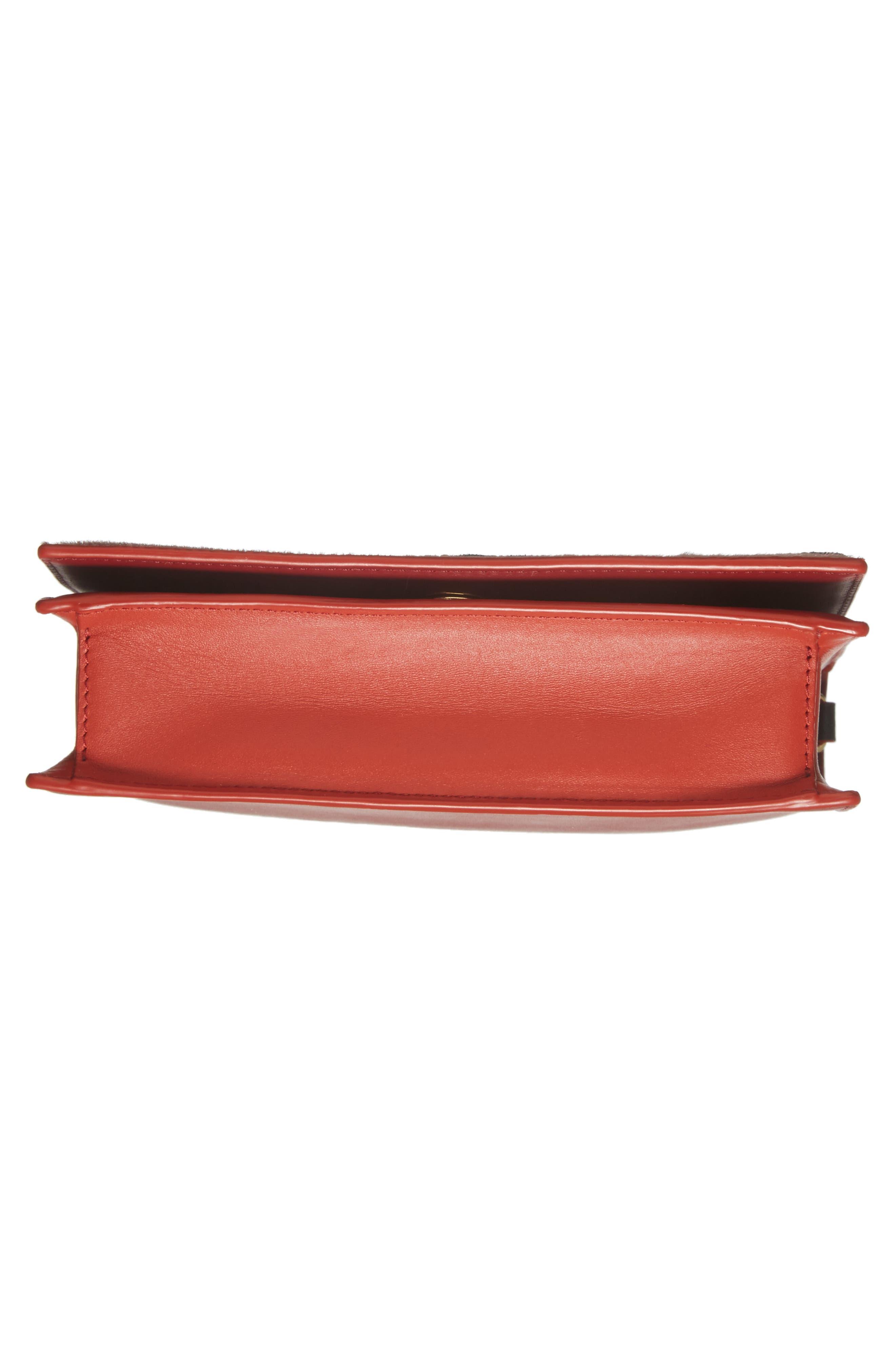 Soirée Genuine Calf Hair & Leather Convertible Shoulder Bag,                             Alternate thumbnail 6, color,                             Mauve