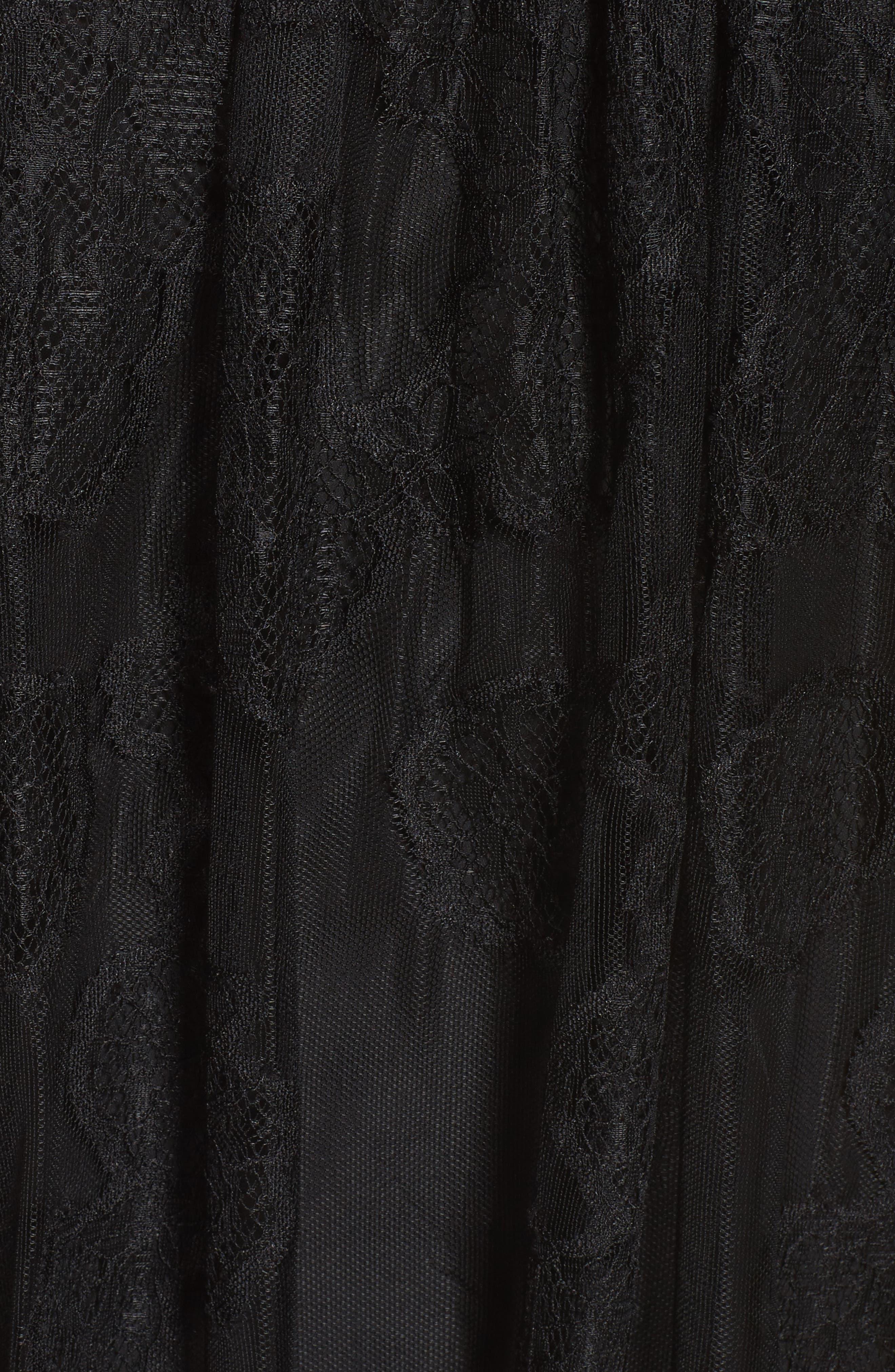 Babette Cold Shoulder Trapeze Dress,                             Alternate thumbnail 5, color,                             Black
