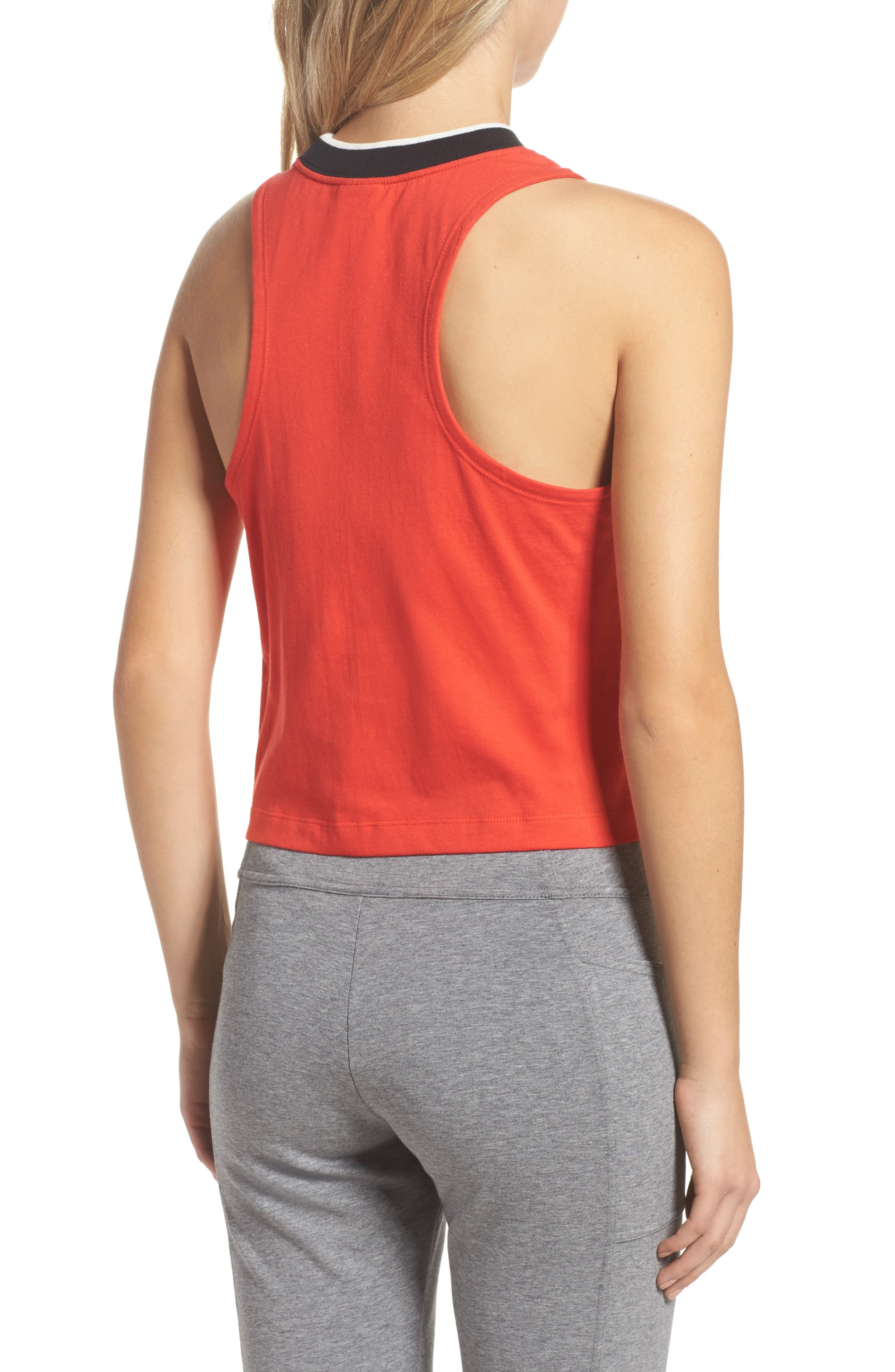 Sportswear Archive Crop Tank,                             Alternate thumbnail 2, color,                             Rush Red/ Sail