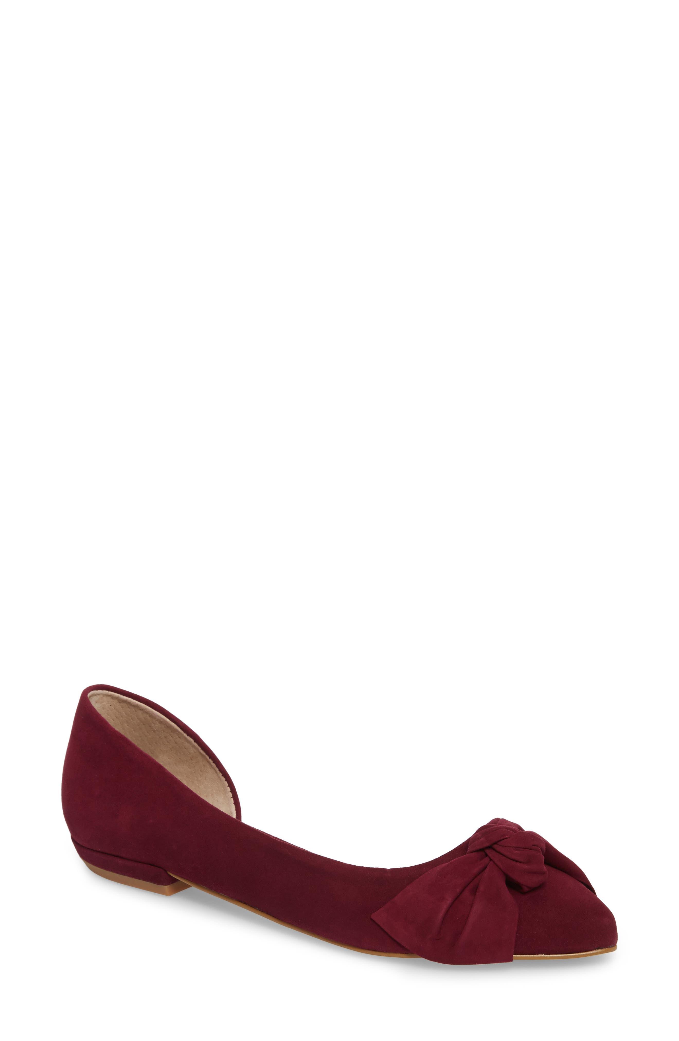 Alternate Image 1 Selected - Steve Madden Edina d'Orsay Bow Flat (Women)