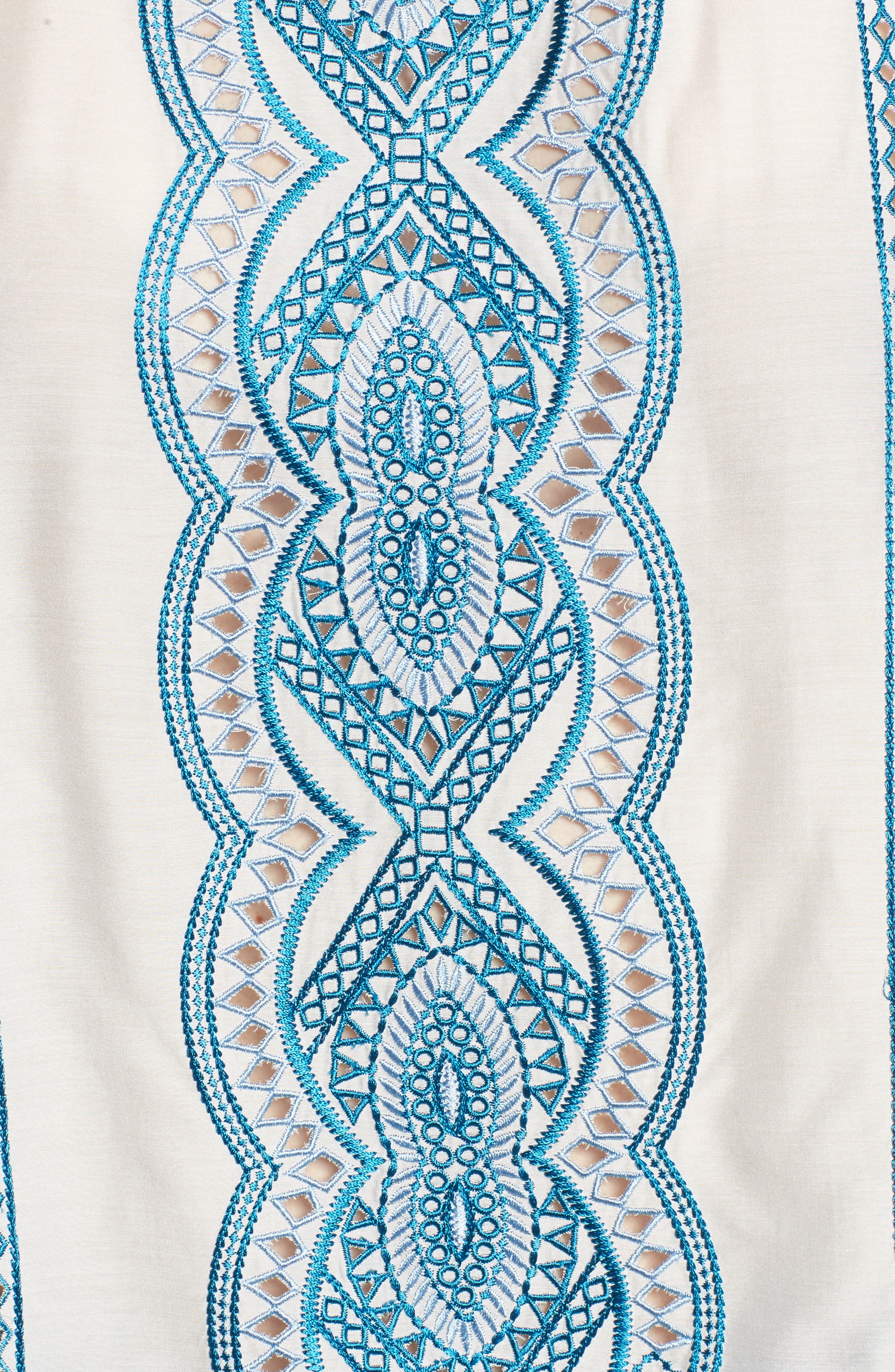 Embroidered Top,                             Alternate thumbnail 5, color,                             Natural