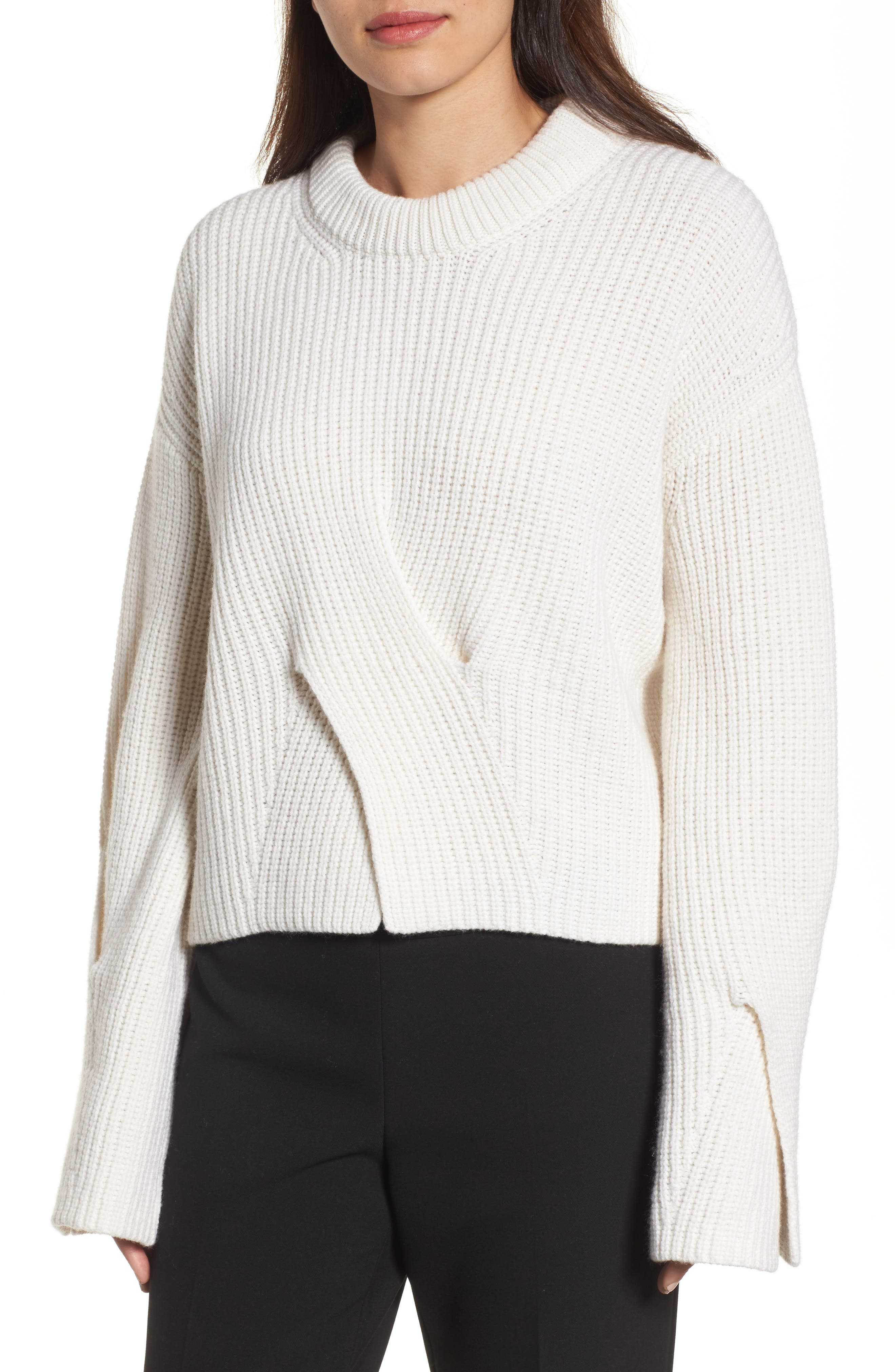 Fihra Wool Blend Sweater,                         Main,                         color, Vanilla Light