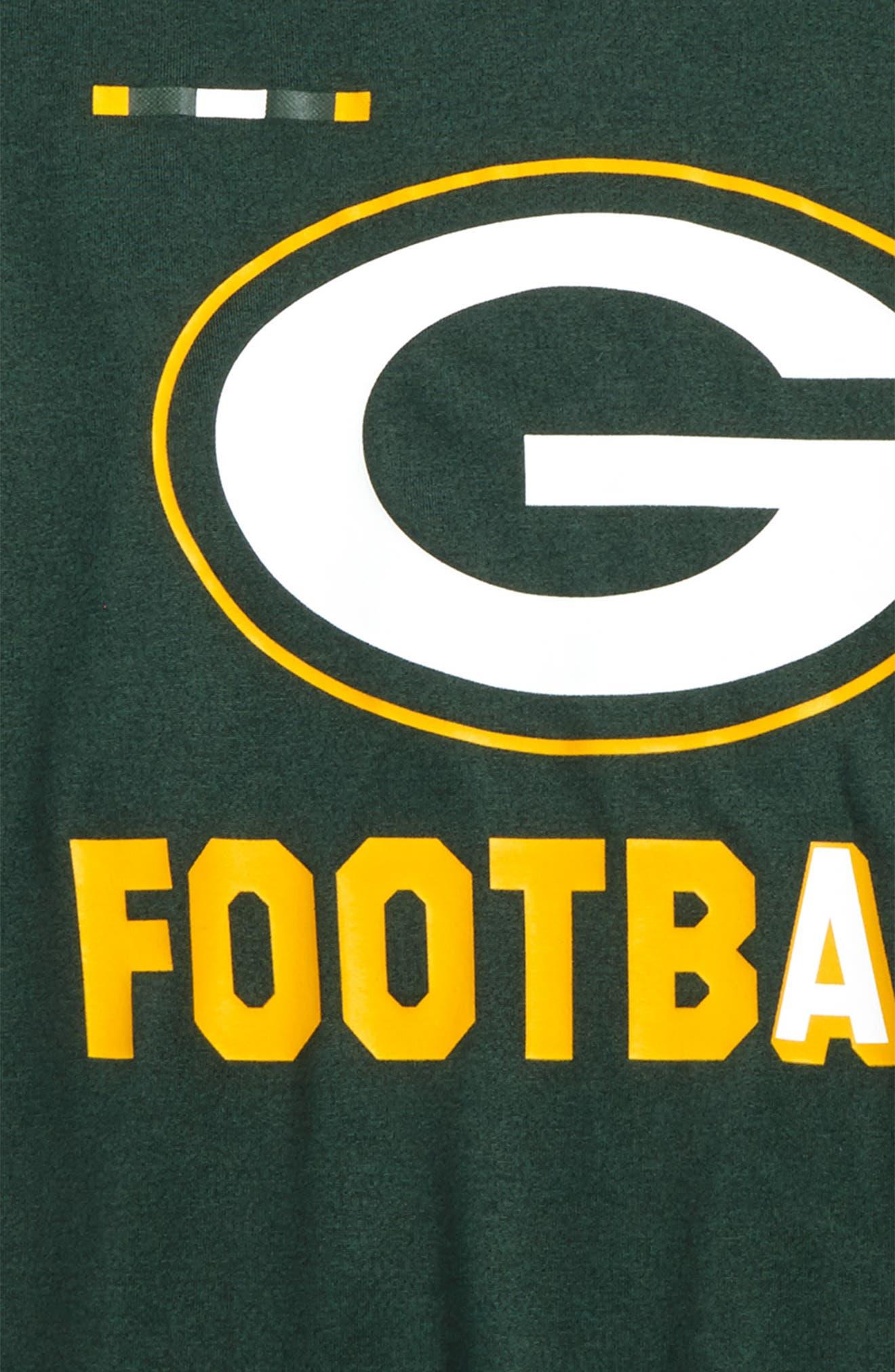 Nike NFL Logo - Green Bay Packers Dry T-Shirt,                             Alternate thumbnail 2, color,                             Fir