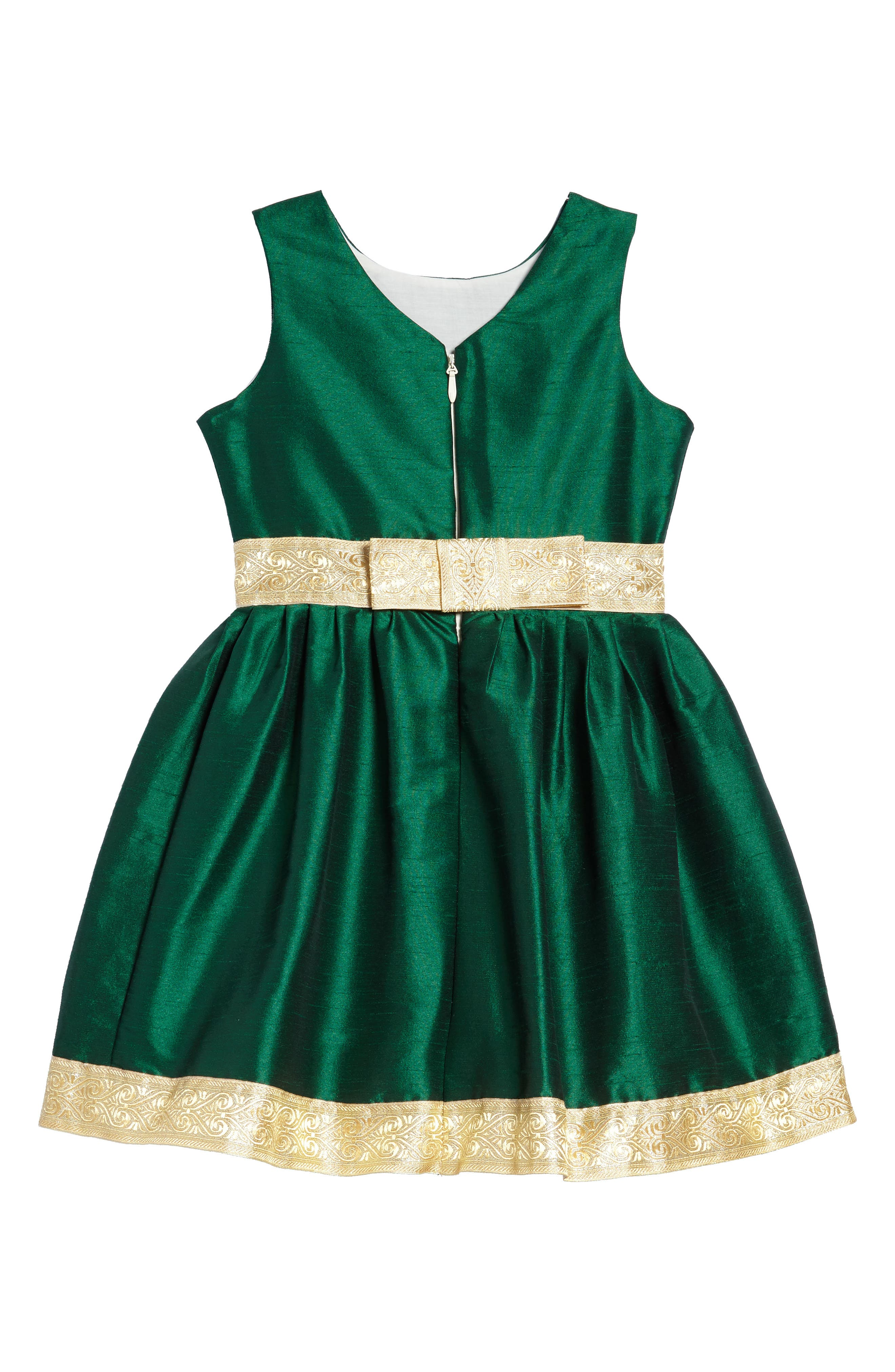 Fawn of Winter Dress,                             Alternate thumbnail 2, color,                             Green