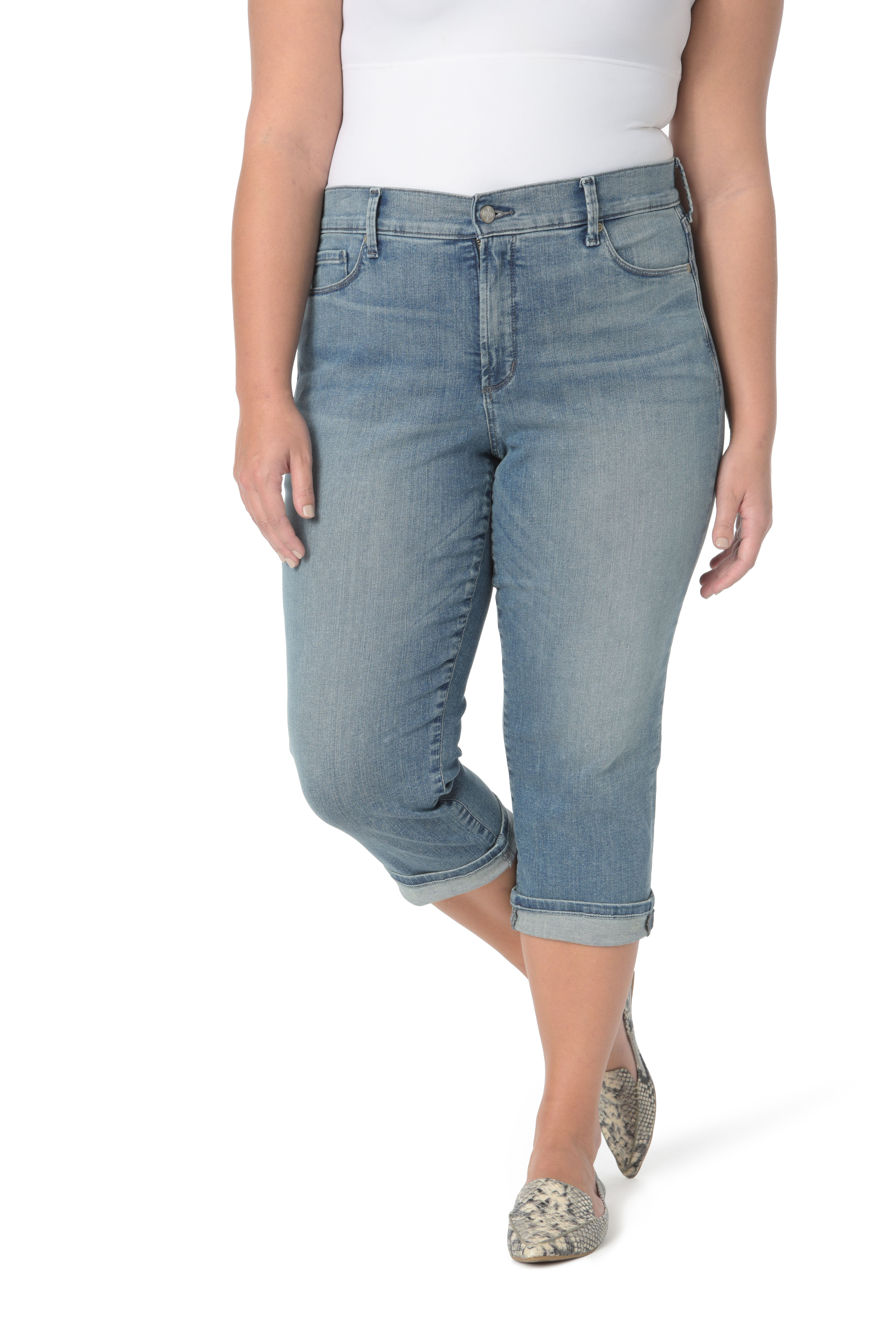 Marilyn Crop Cuff Jeans,                         Main,                         color, Pacific