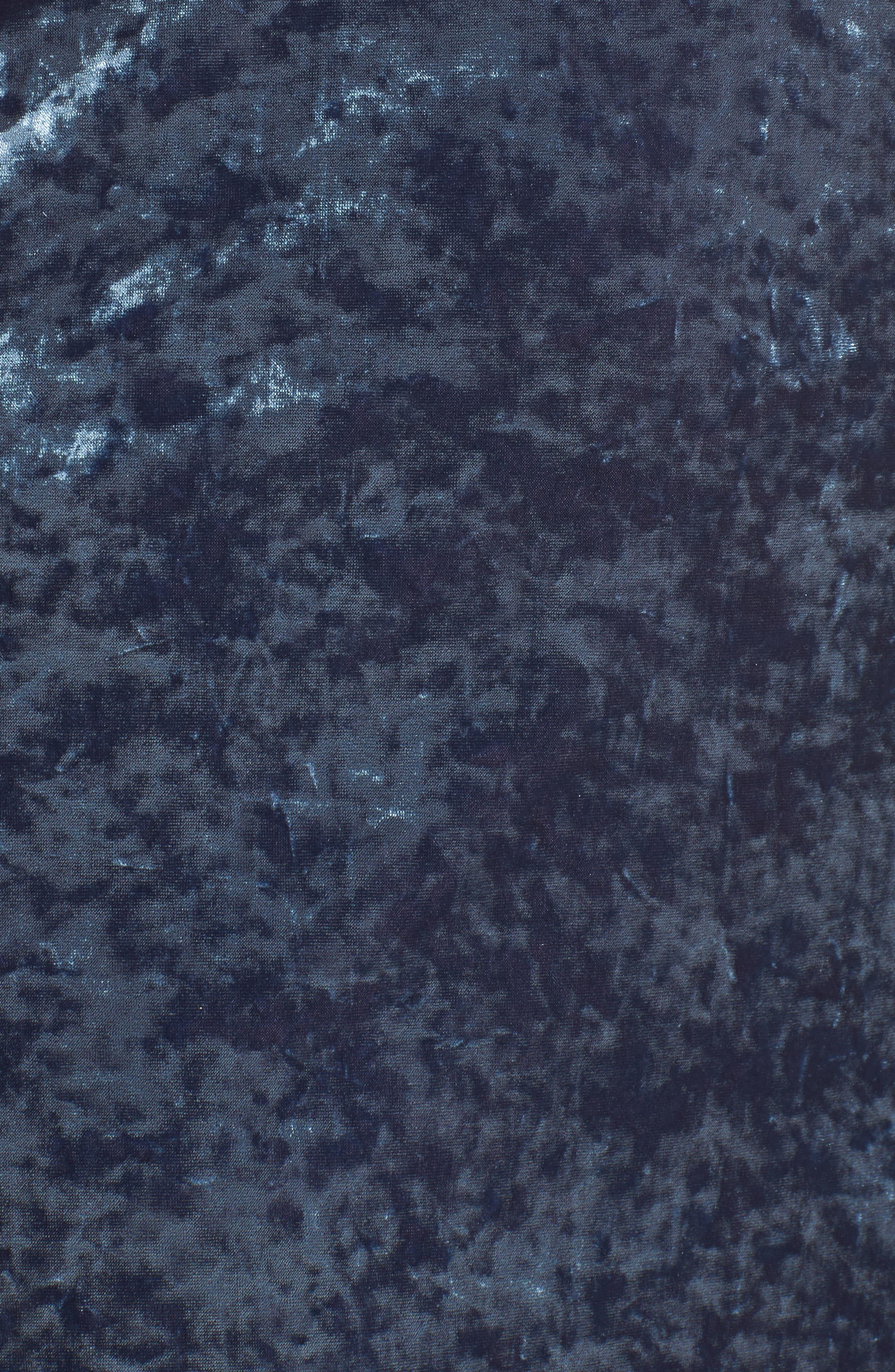 Velvet Chemise,                             Alternate thumbnail 5, color,                             Petrol