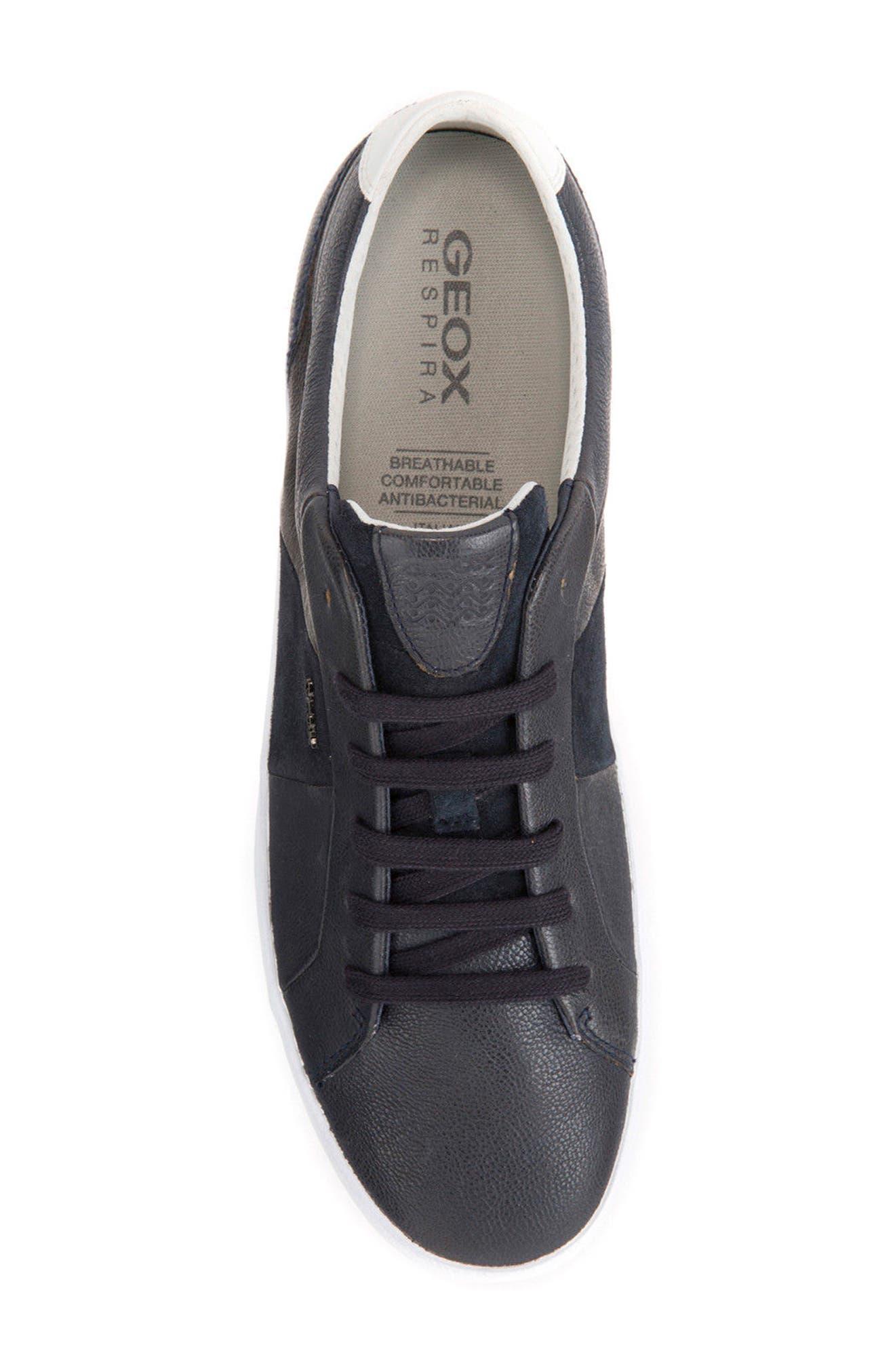 Smart 77 Sneaker,                             Alternate thumbnail 5, color,                             Navy Leather