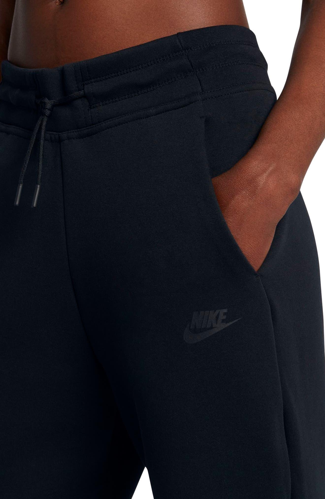 Sportswear Women's Tech Fleece Sneaker Pants,                             Alternate thumbnail 7, color,                             Black/ Black