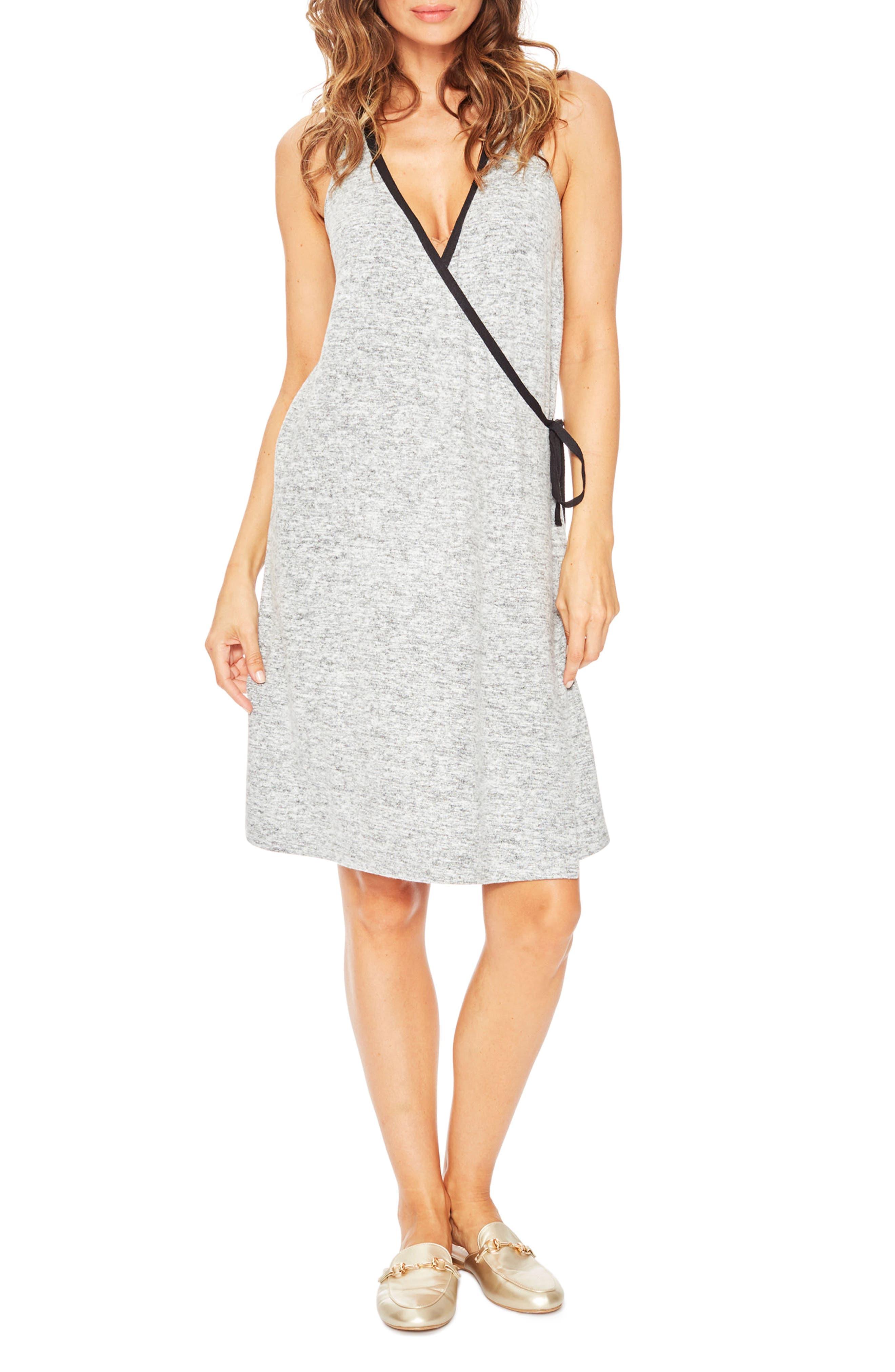 Kelsey Maternity Nightgown,                         Main,                         color, Grey Melange