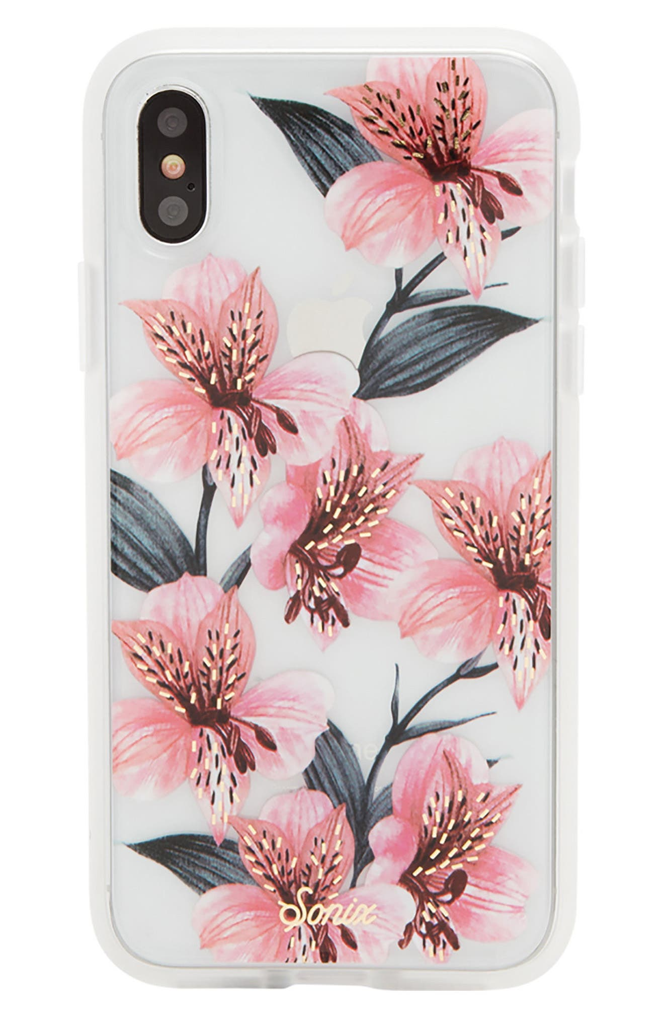 Tiger Lily iPhone X Case,                         Main,                         color, Pink