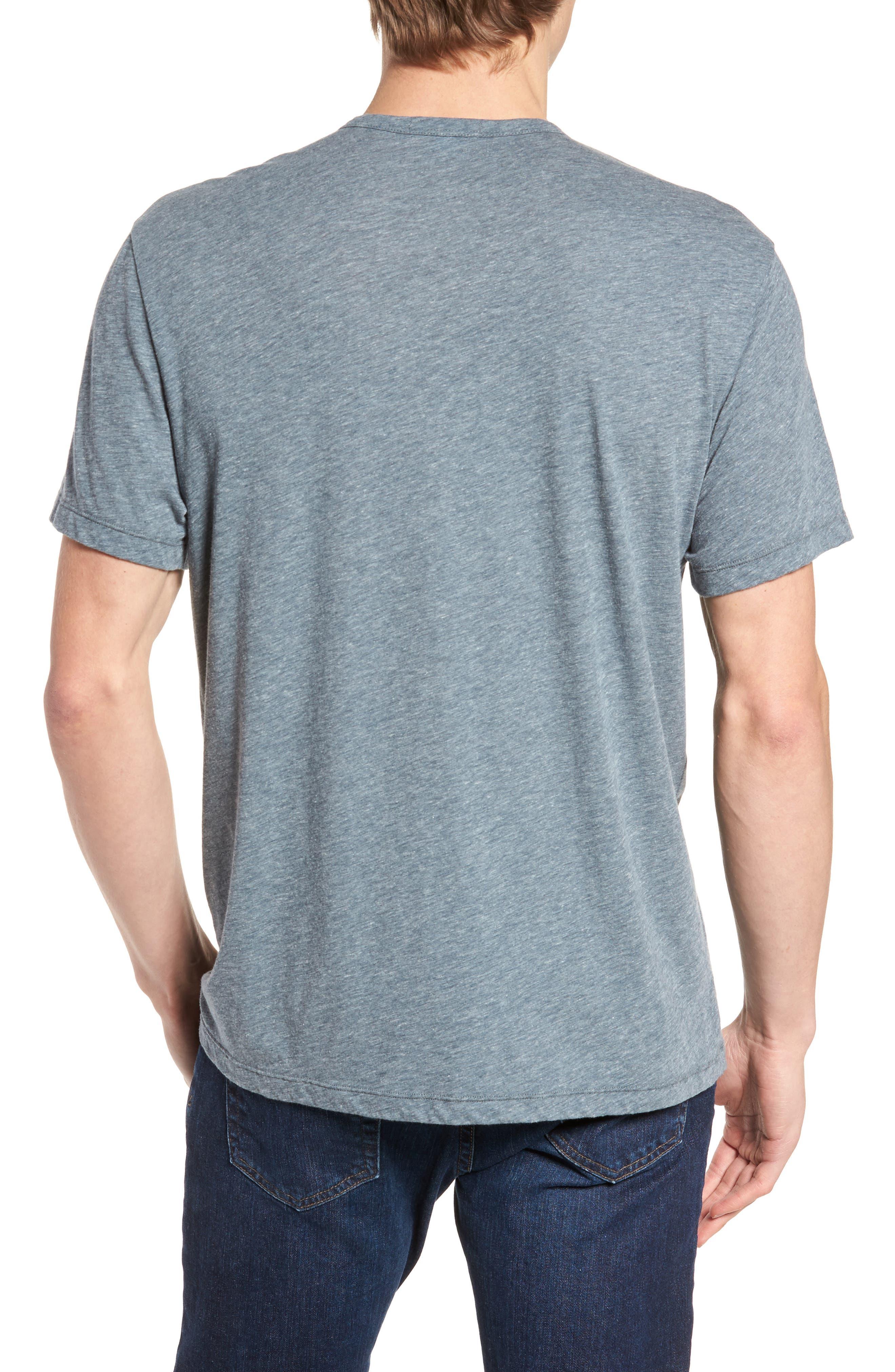 Alternate Image 2  - James Perse Slubbed Cotton & Linen Pocket T-Shirt