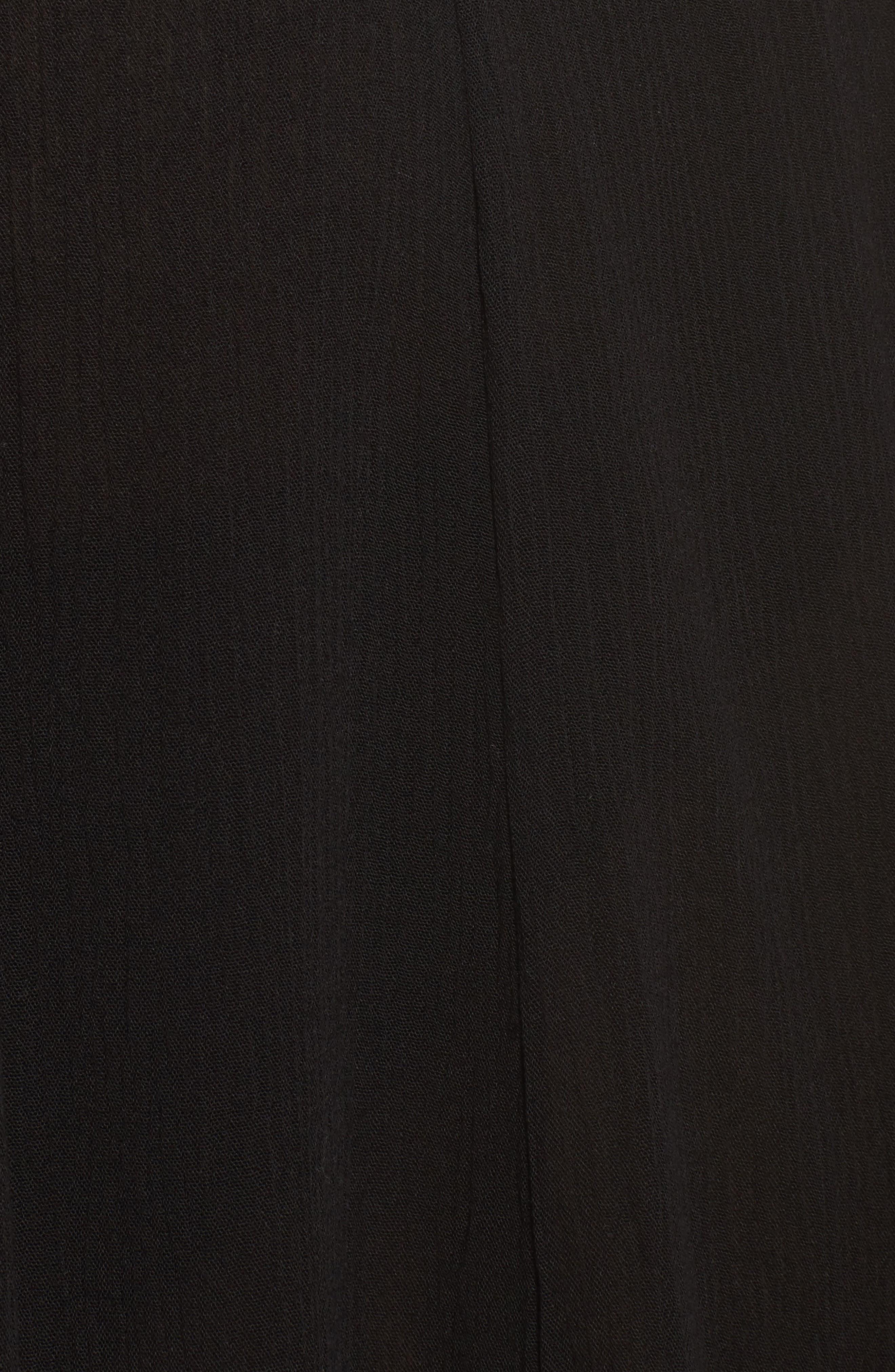 Cutout Cover-Up Maxi Dress,                             Alternate thumbnail 5, color,                             Black