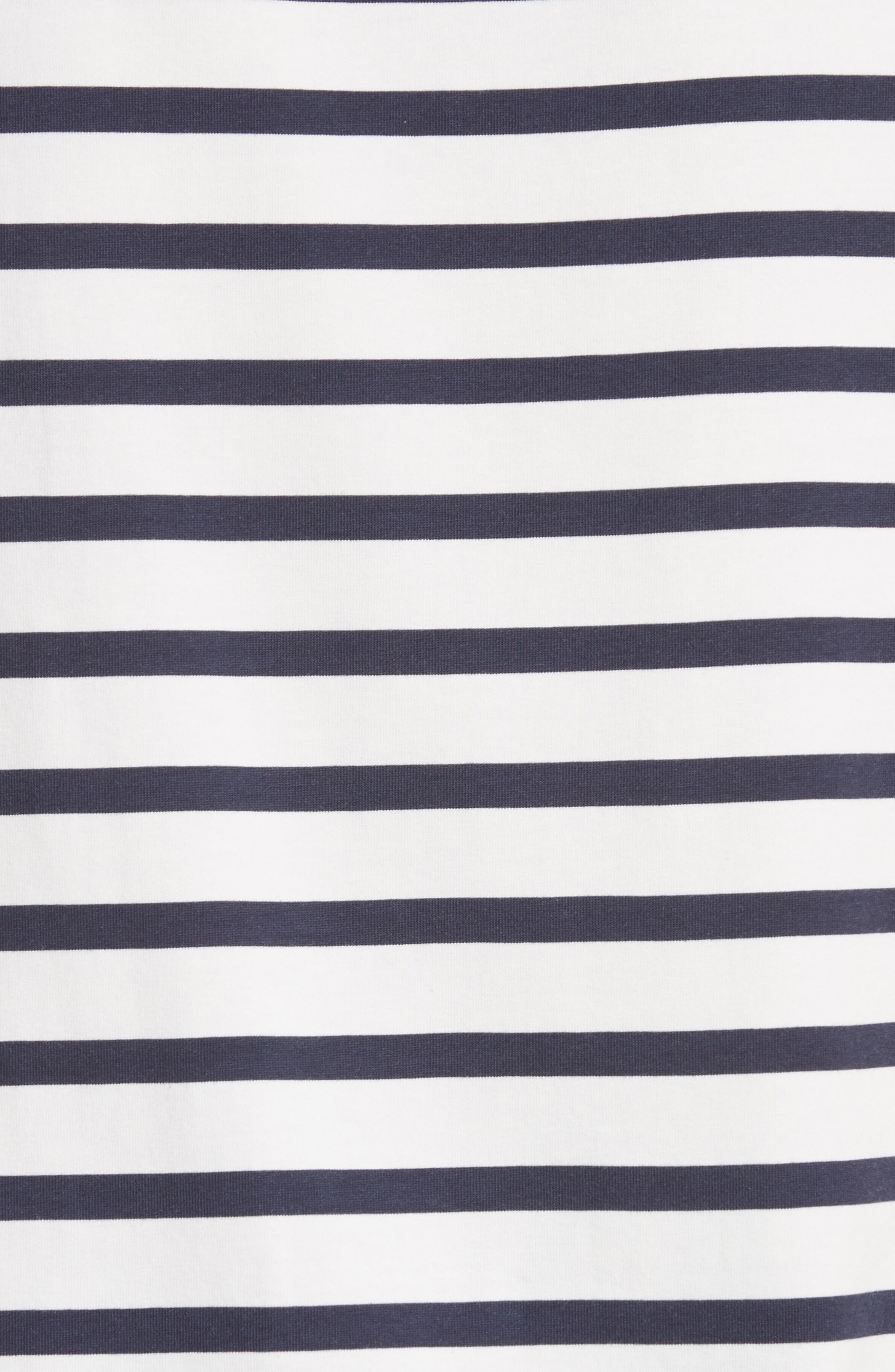 Ruffle Sleeve Stripe Tee,                             Alternate thumbnail 6, color,                             Cocco