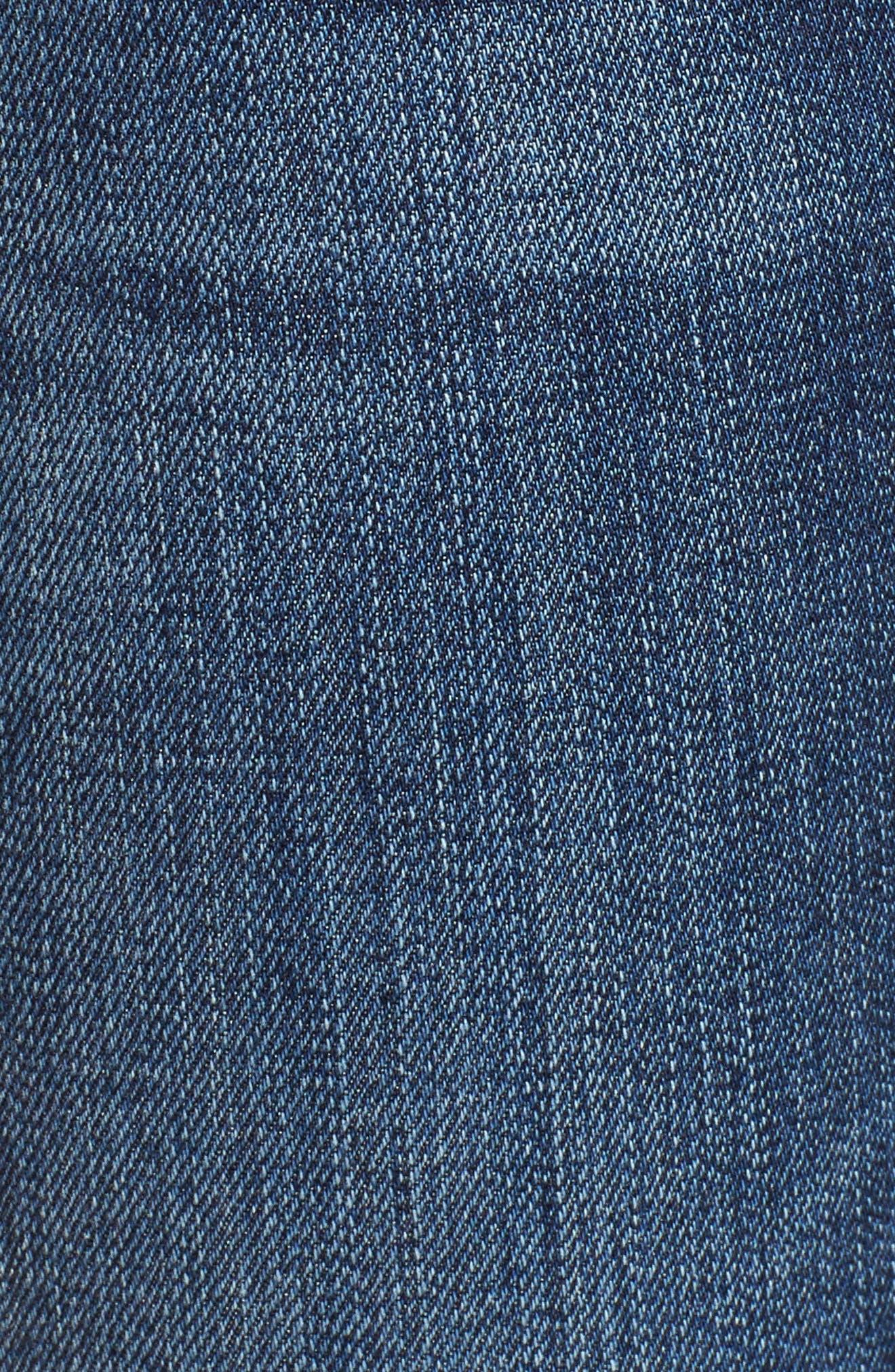 Barbara High Waist Ankle Skinny Jeans,                             Alternate thumbnail 3, color,                             Dare
