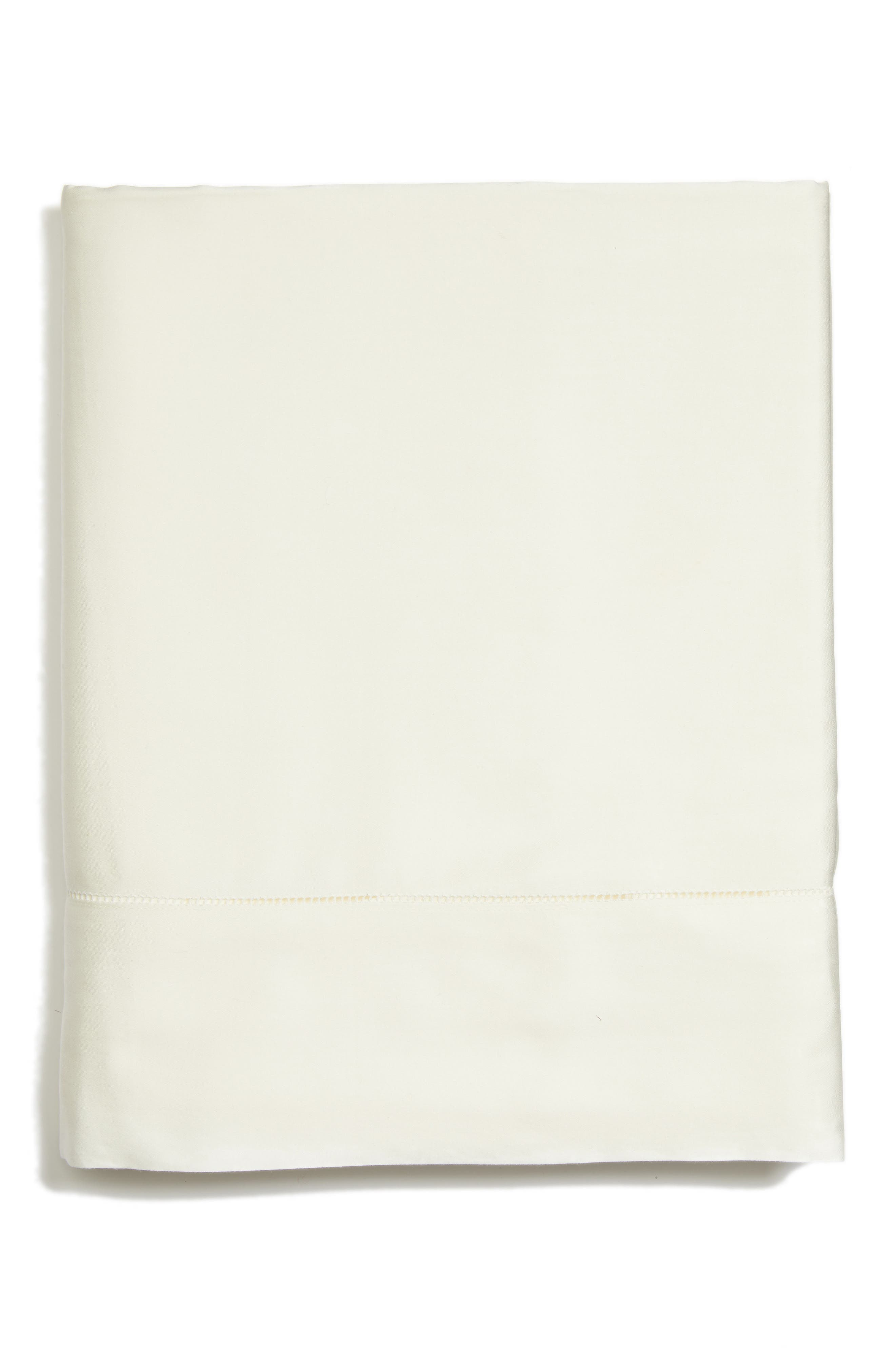 Fiona 300 Thread Count Flat Sheet,                             Main thumbnail 1, color,                             Ivory
