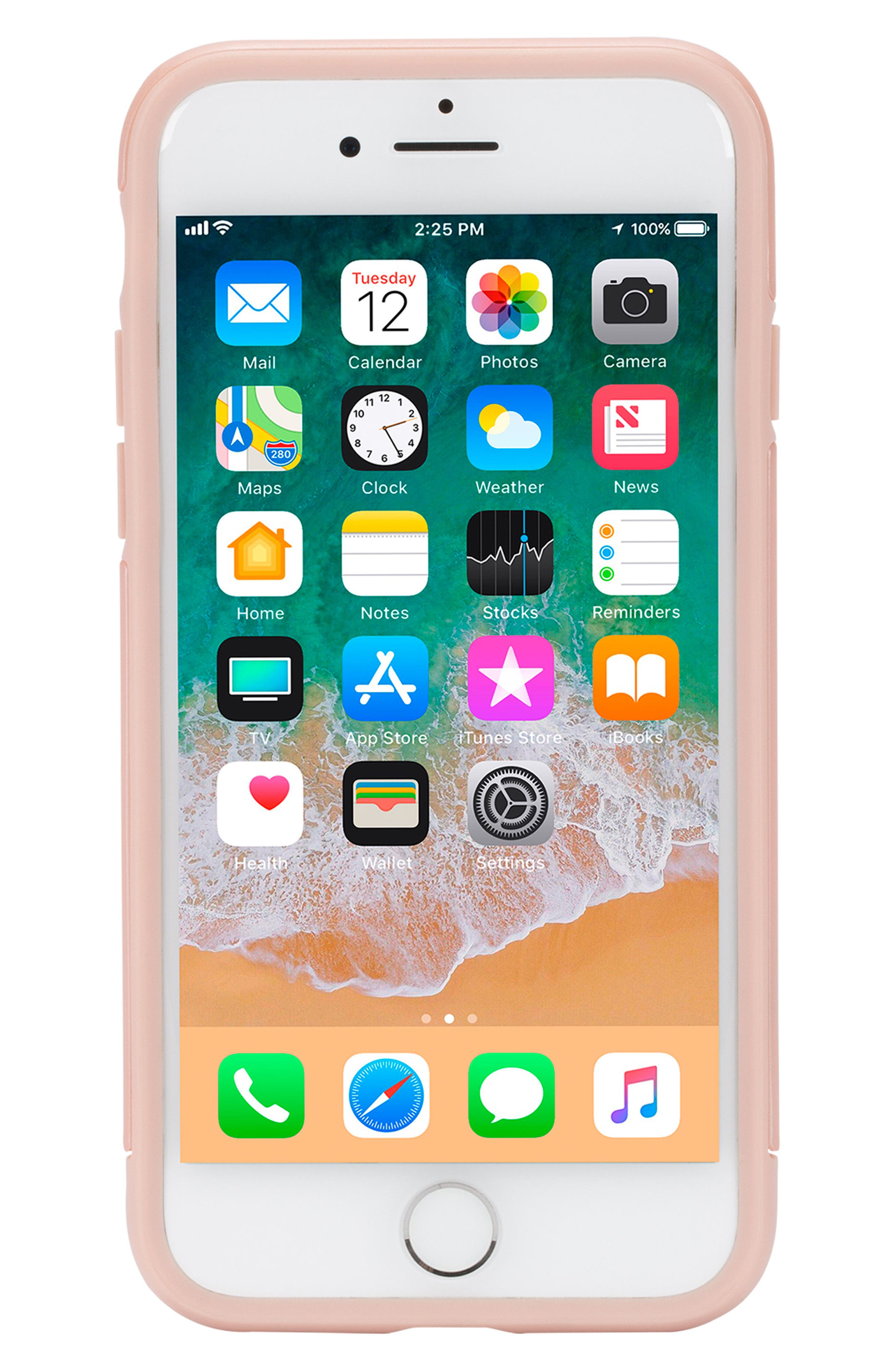 Dual Snap iPhone 7/8 Case,                             Alternate thumbnail 7, color,                             Rose Gold