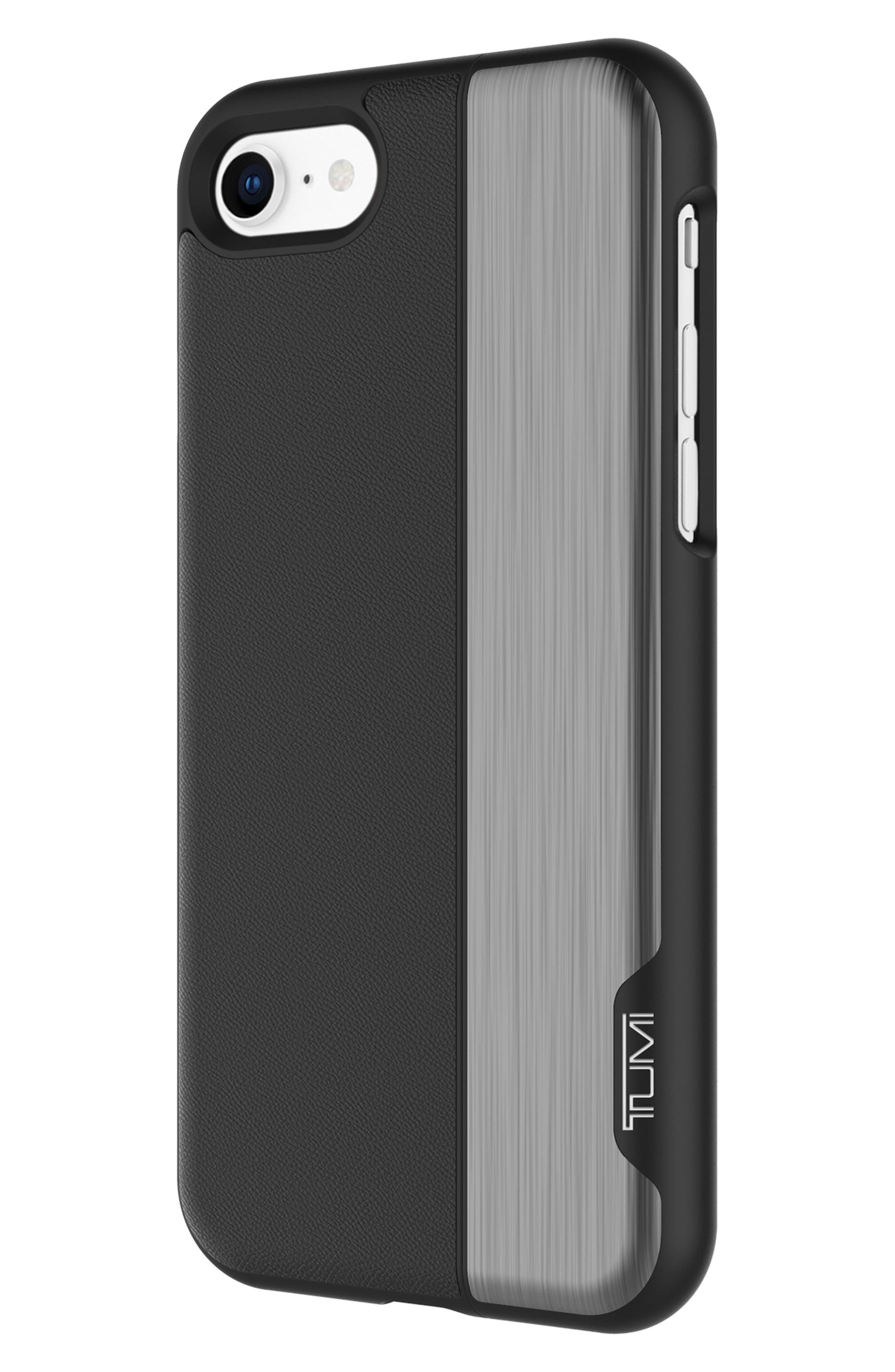 Vertical Slider iPhone 8 Case,                             Alternate thumbnail 2, color,                             Black Gunmetal