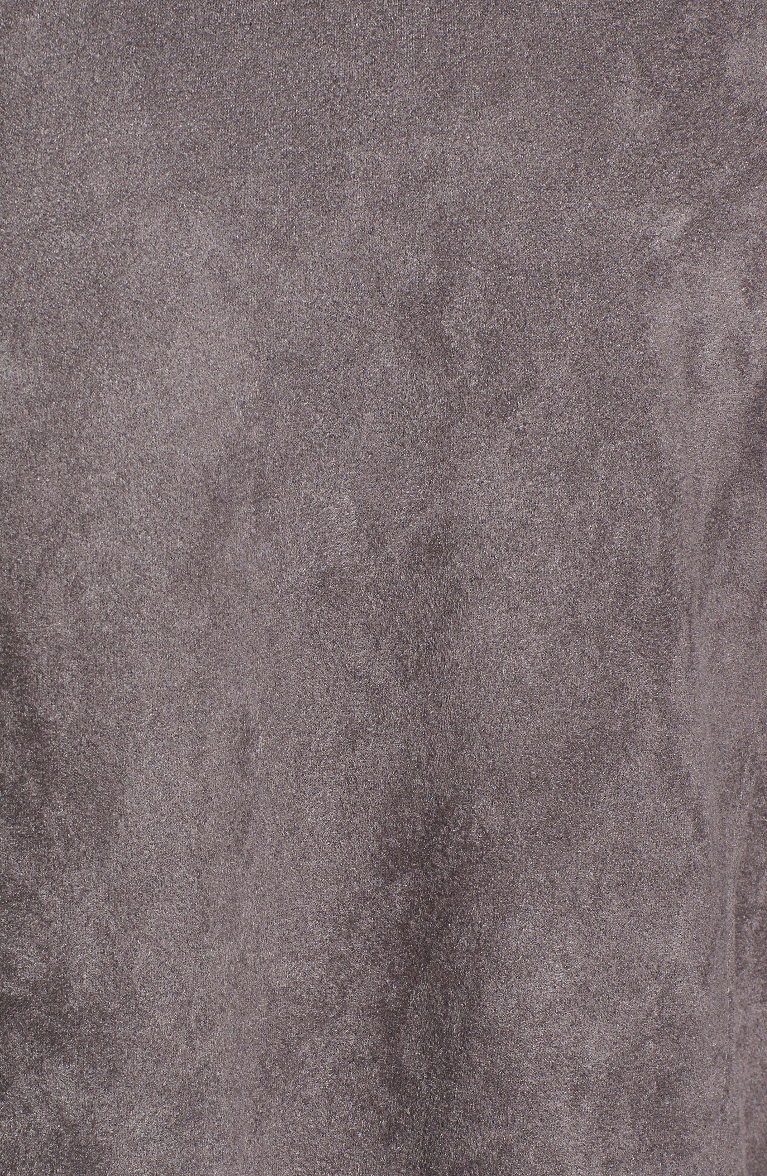 Alternate Image 5  - BLANKNYC Drape Front Faux Suede Jacket