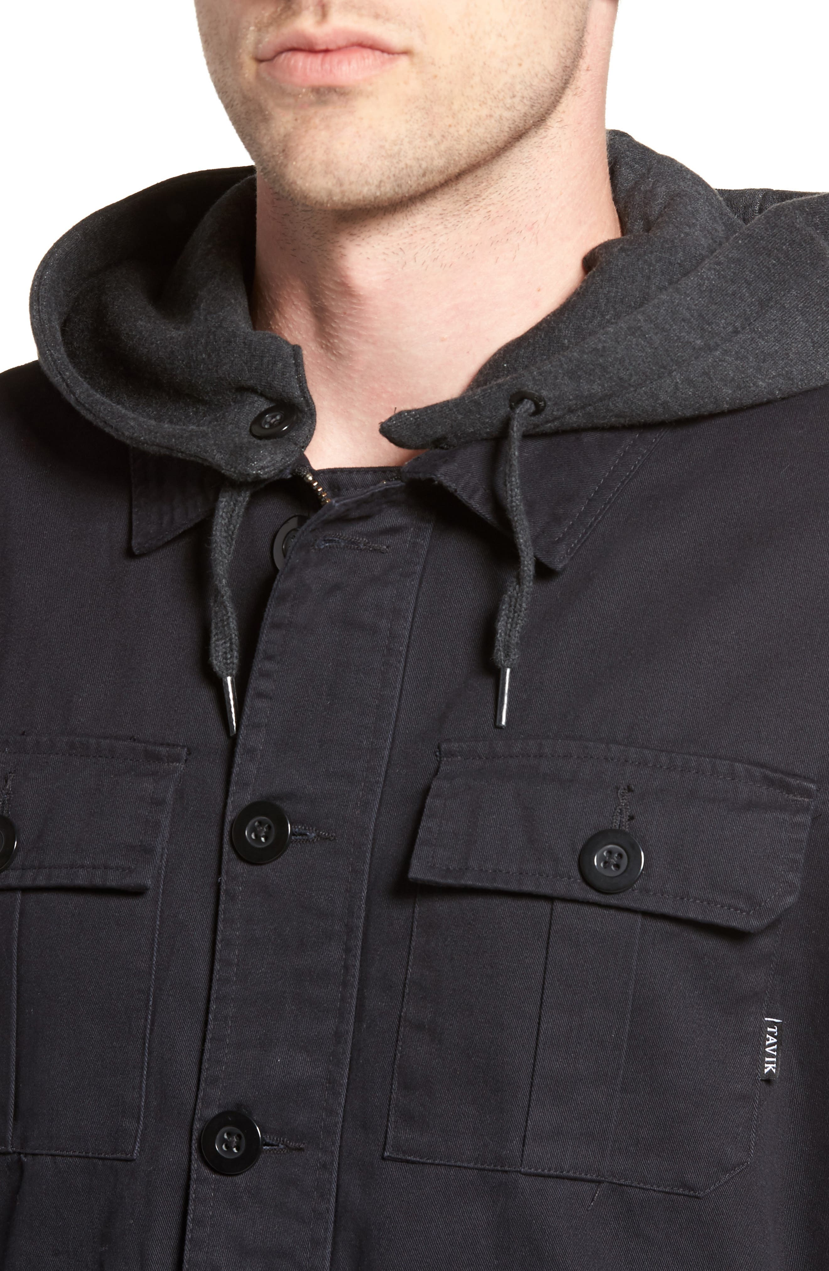 Droogs Field Jacket with Detachable Hood,                             Alternate thumbnail 4, color,                             Grey/ Heather Grey