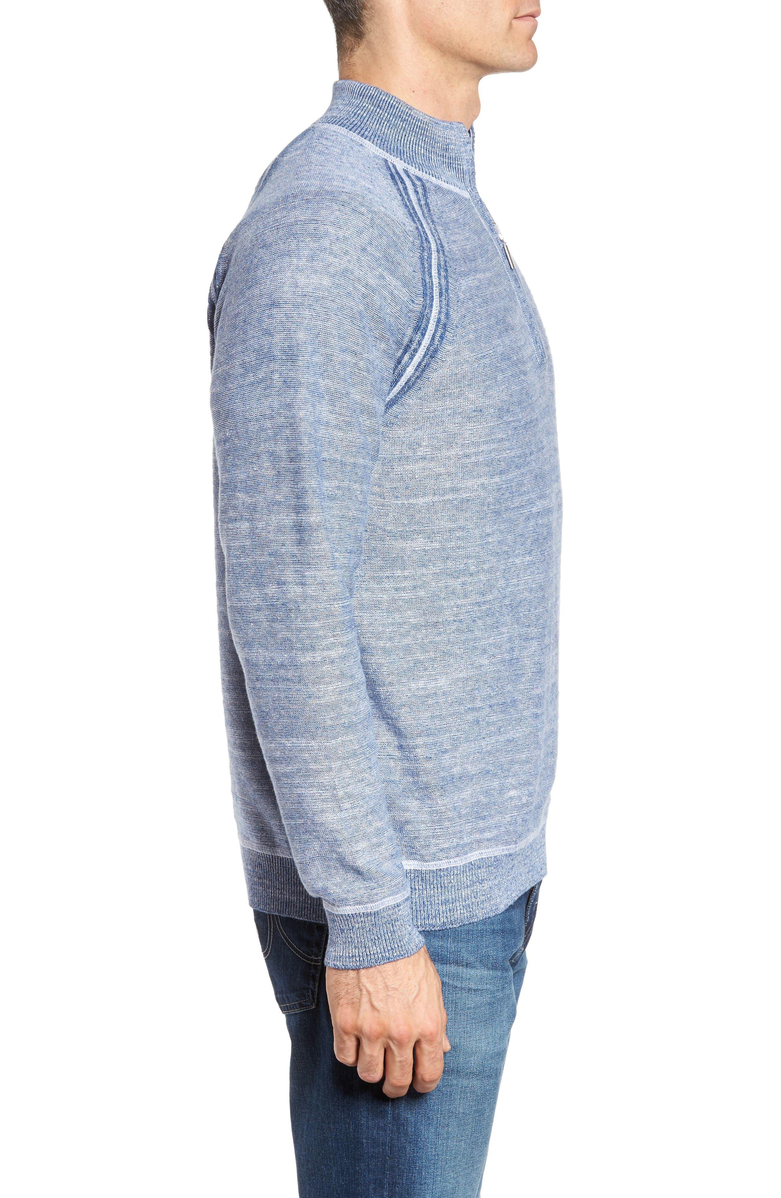 Sandy Bay Half-Zip Pullover,                             Alternate thumbnail 3, color,                             Galaxy Blue Heather