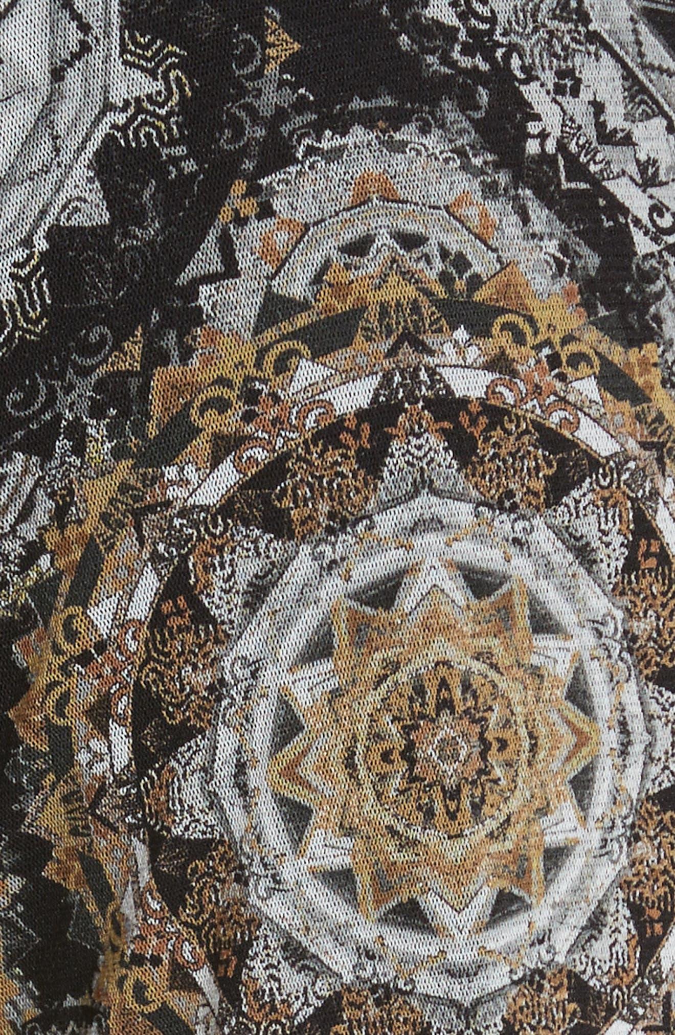 Print Tulle Jumpsuit,                             Alternate thumbnail 6, color,                             Nero