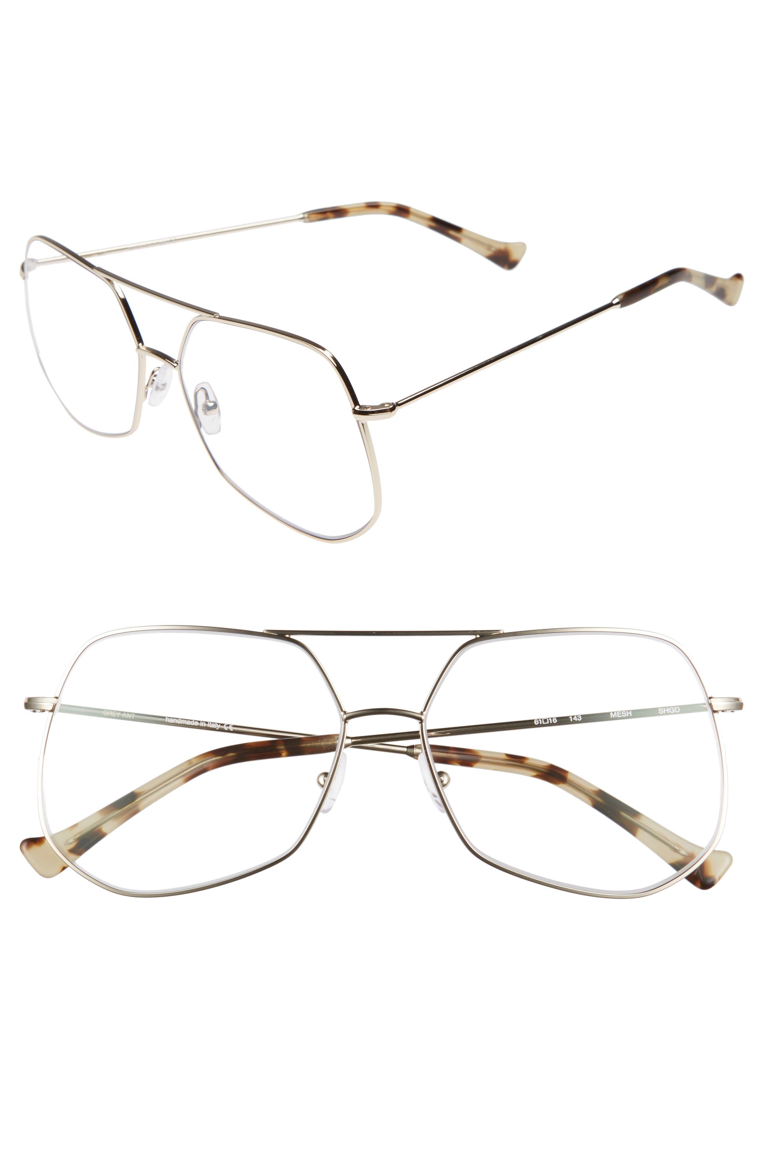 Mesh 61mm Optical Glasses,                         Main,                         color, Gold